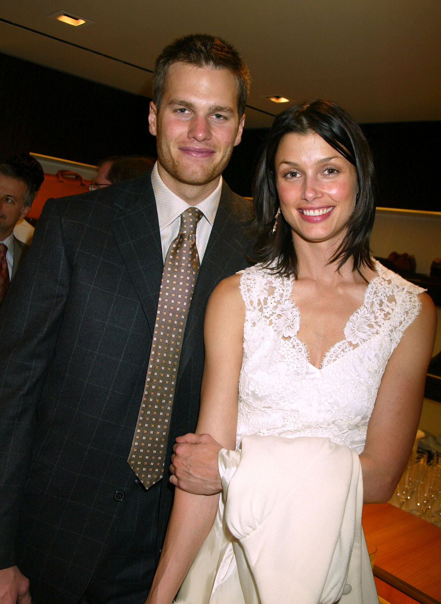 Look Back at Tom Brady and Bridget Moynahan's Rocky Relationship - Tom Brady, Quarterback for the New England Patriots and Bridget Moynahan (Photo by Gregory Pace/FilmMagic)