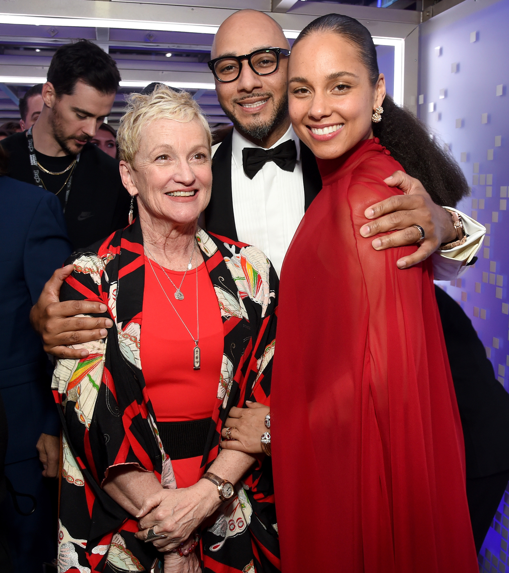 Alicia Keys Terria Joseph STARS BRINGING FAMILY TO GRAMMYS 2019 - The Grammys host and her husband, Swiss Beatz, posed for a pic with Key's mom at the awards show.