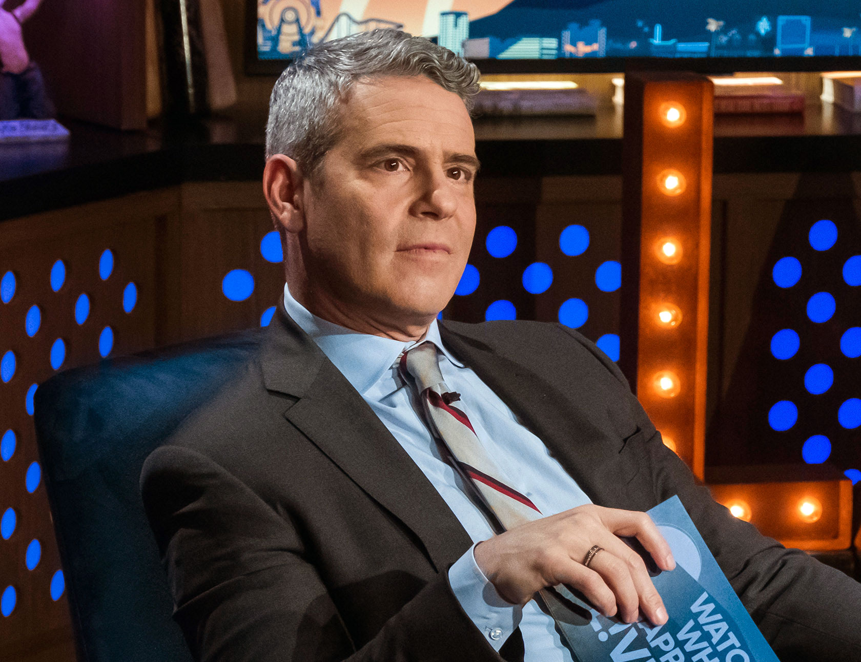 "Andy Cohen Dad-Shamed After Dog Chews Up Son's Toy - Andy Cohen on ""Watch What Happens Live""."