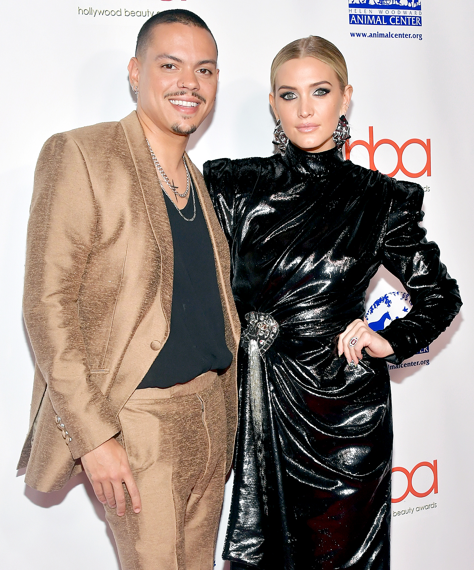 Ashlee-Simpson-and-Evan-Ross - Evan Ross and Ashlee Simpson attend the 2019 Hollywood Beauty Awards at Avalon Hollywood on February 17, 2019 in Los Angeles, California.