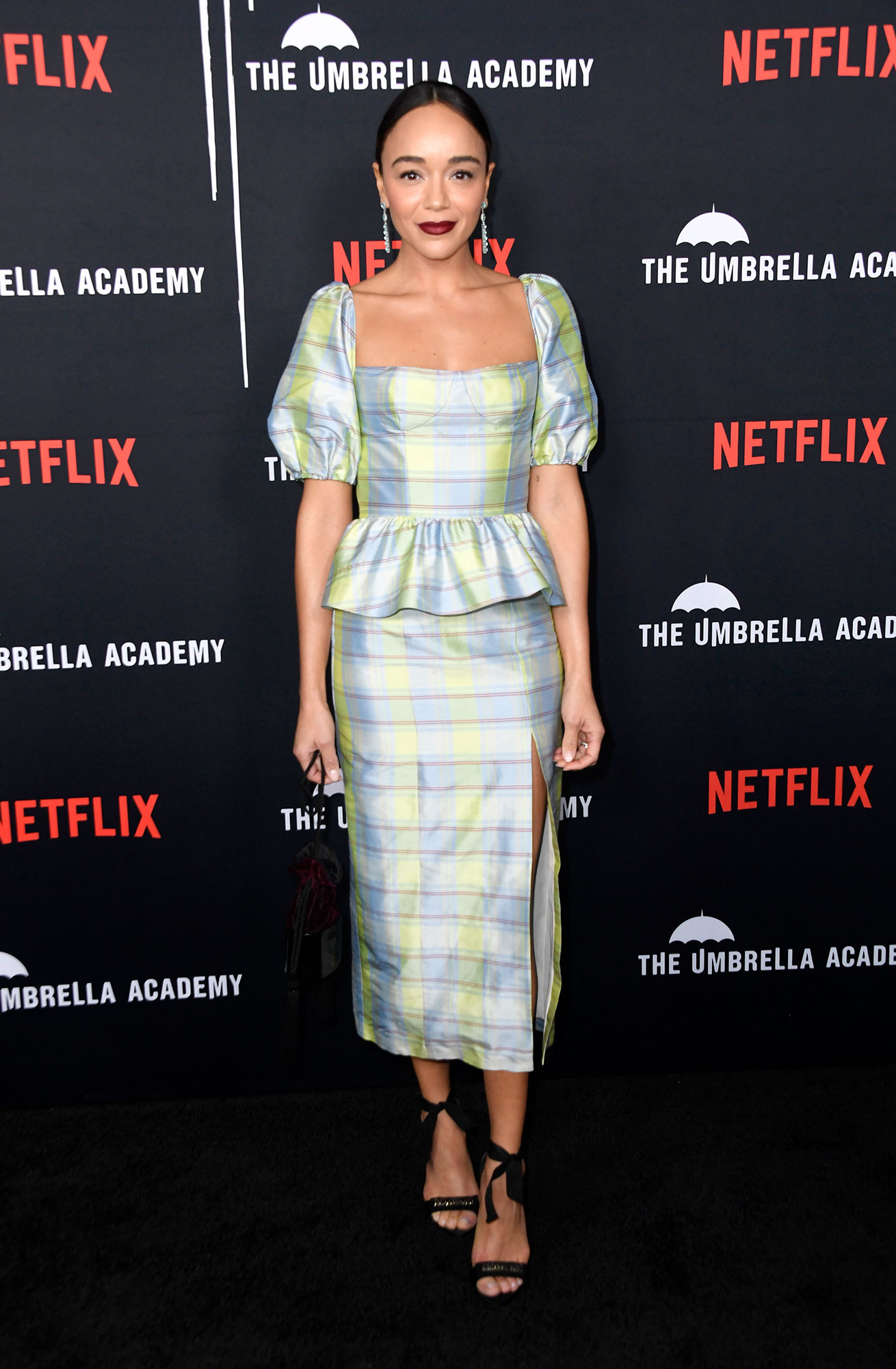 "Revenge's Ashley Madekwe: Emily VanCamp and Josh Bowman's Wedding Was 'Beautiful' - Ashley Madekwe attends the Premiere of Netflix's ""The Umbrella Academy"" at ArcLight Hollywood on February 12, 2019 in Hollywood, California."