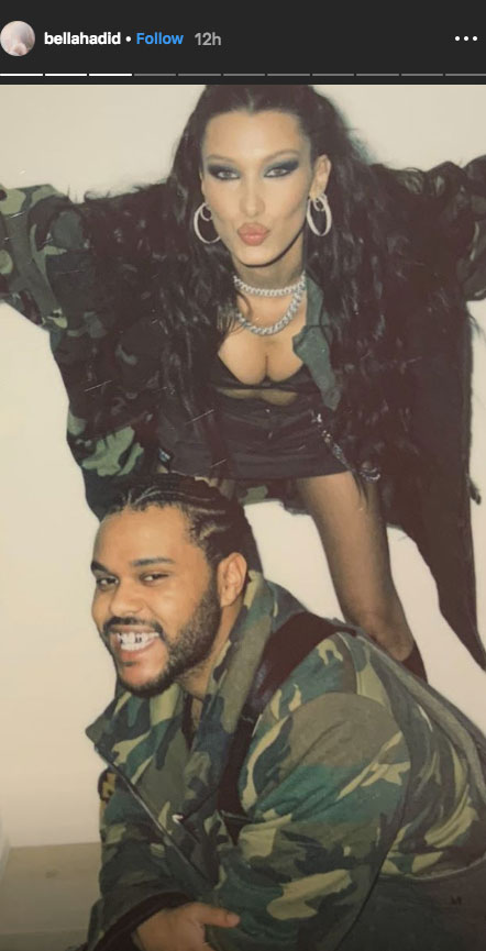 Bella Hadid and 'Daddy' The Weeknd Celebrate His 29th Birthday With Matching Camo Outfits - The duo previously dated for nearly two years before splitting in November 2016 . During their break, The Weeknd dated Selena Gomez for 10 months until they called it quits in October 2017 .