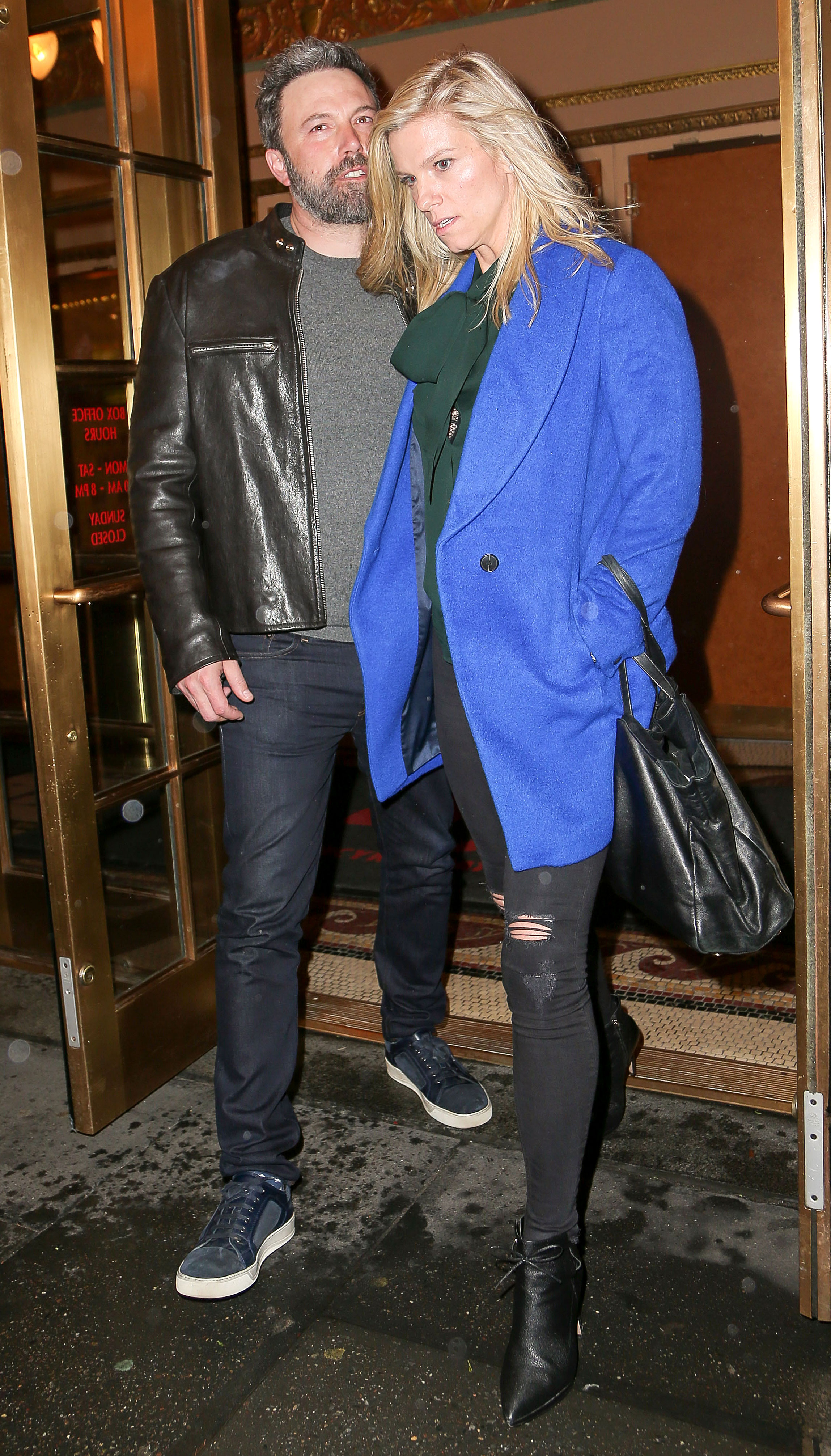 Lindsay Shookus 'Reached Out' to Ben Affleck: 'They've Been Talking' Again - Ben Affleck and Lindsay Shookus leaving Bruce Springsteen's Broadway show on March 2, 2018 in New York City.