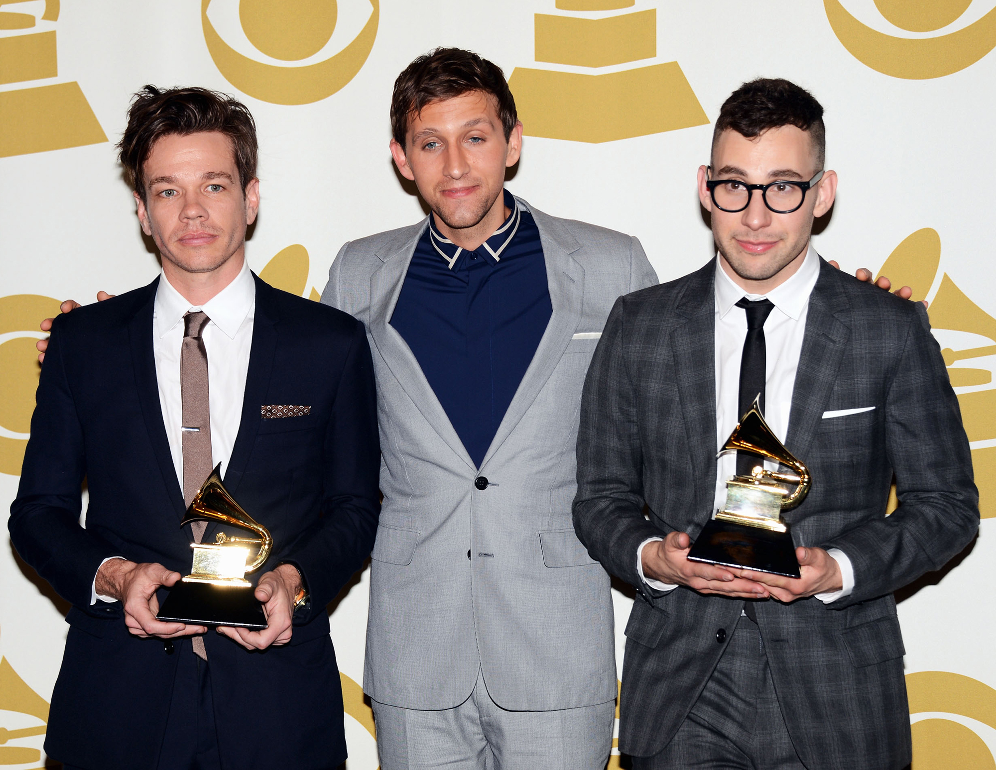 """Best New Artist Grammy Winners Where Are They Now - Who They Beat: Alabama Shakes, Hunter Hayes, The Lumineers, Frank Ocean Where Are They Now: The band announced on its Facebook page in February 2015 that its members — Jack Antonoff, Andrew Dost and Nate Ruess — were taking time off to pursue other projects. """"First and foremost, to answer the question that has been raised most often: Fun is not breaking up. Fun was founded by the 3 of us at a time when we were coming out of our own bands. One thing that has always been so special about Fun is that we exist as 3 individuals in music who come together to do something collaborative,"""" the statement read."""