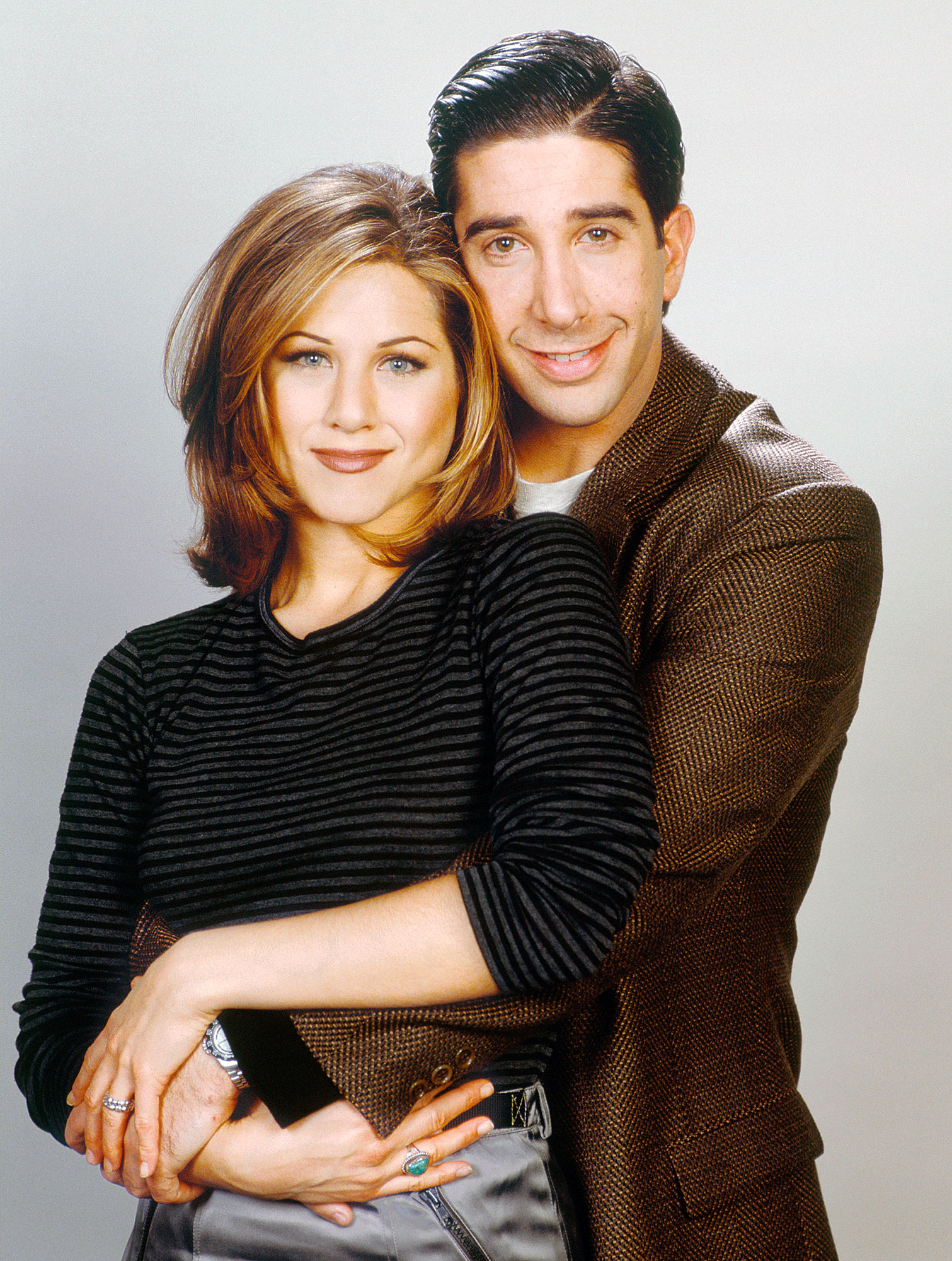 Best TV Couples Friends Jennifer Aniston David Schwimmer - Show: Friends Actors: Jennifer Aniston and David Schwimmer Network: NBC Seasons: 10