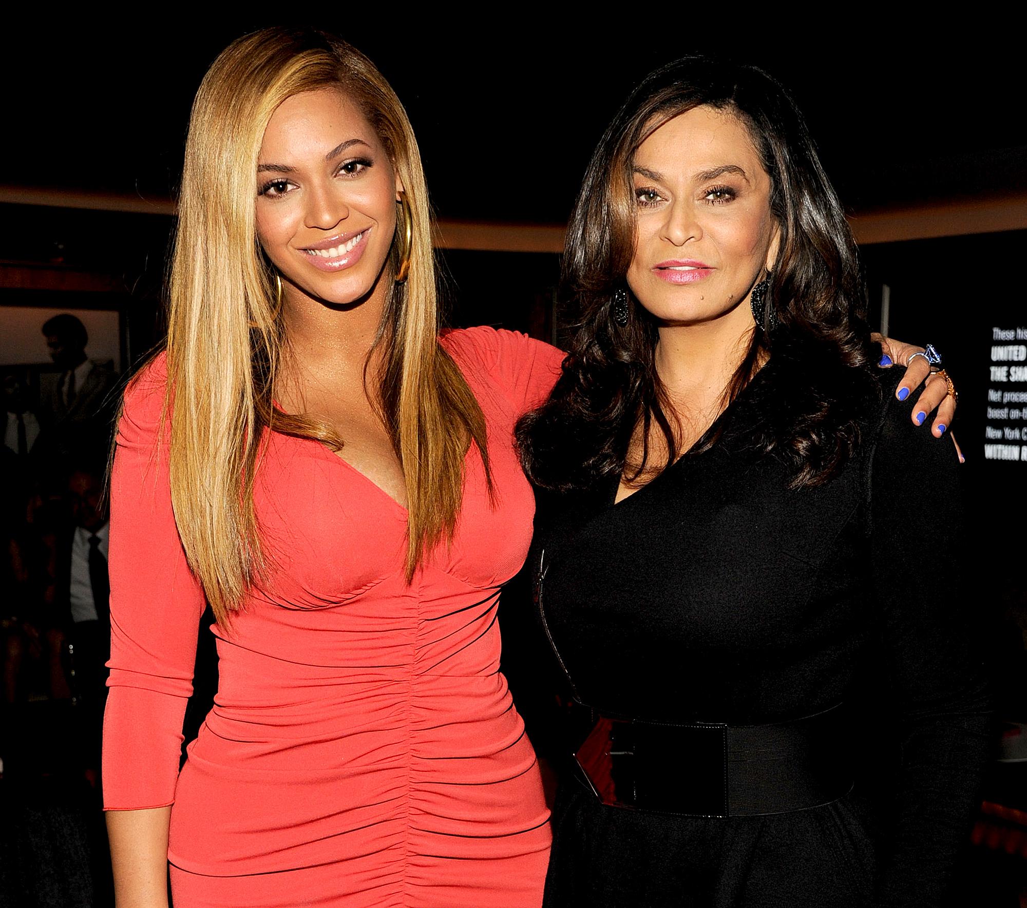 Beyonce-and-Tina-Knowles - Beyonce and Tina Knowles