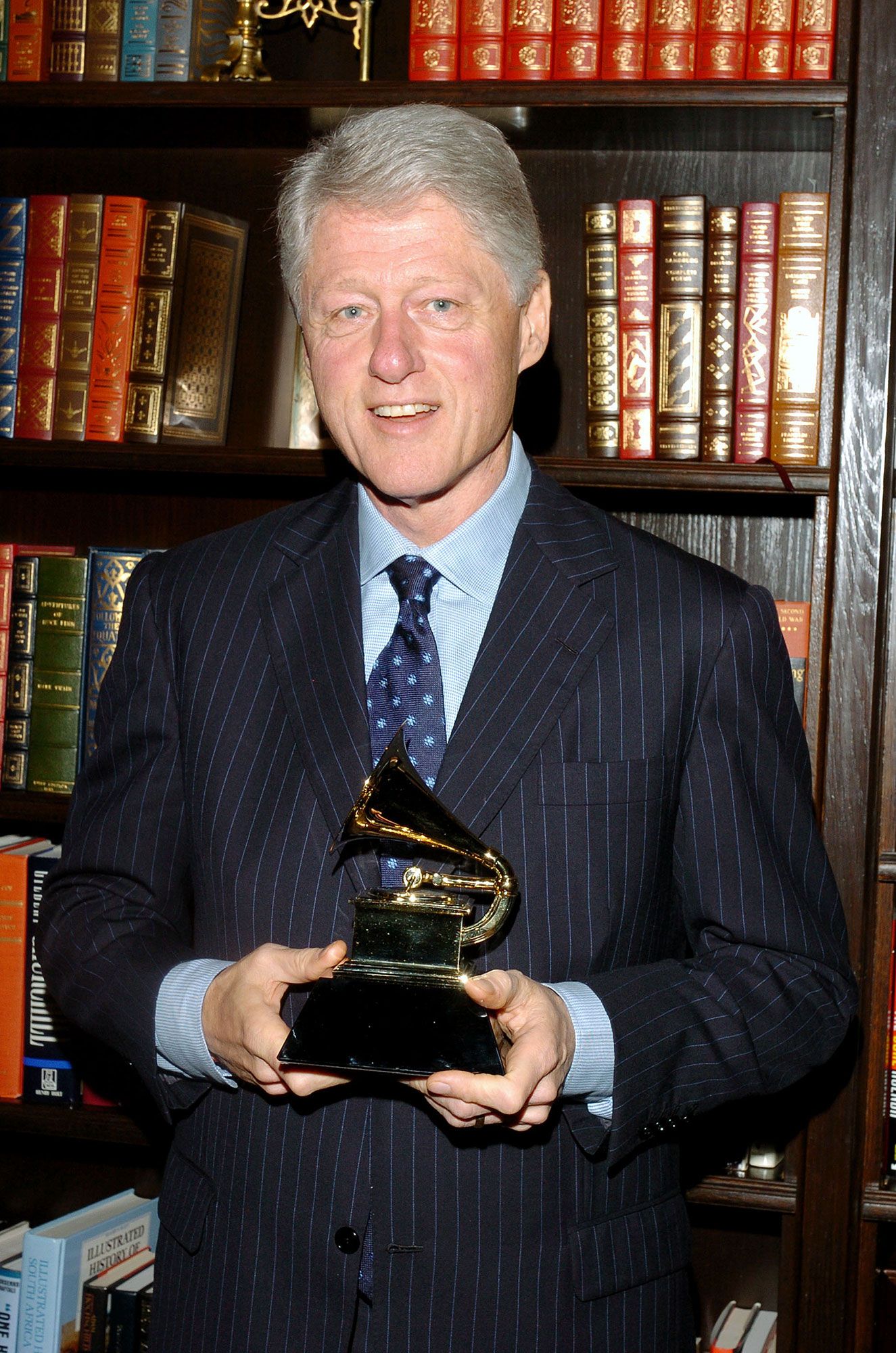 Stars You Wouldn't Expect to Be Grammy Nominees or Winners - The former president won two of his four Grammy nominations: Best Spoken Word Album for Children for Wolf Tracks and Peter and the Wolf in 2004 and Best Spoken Word Album for his audiobook My Life in 2005.