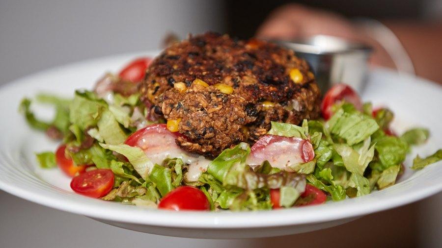 Black Bean, Corn and Quinoa Burger