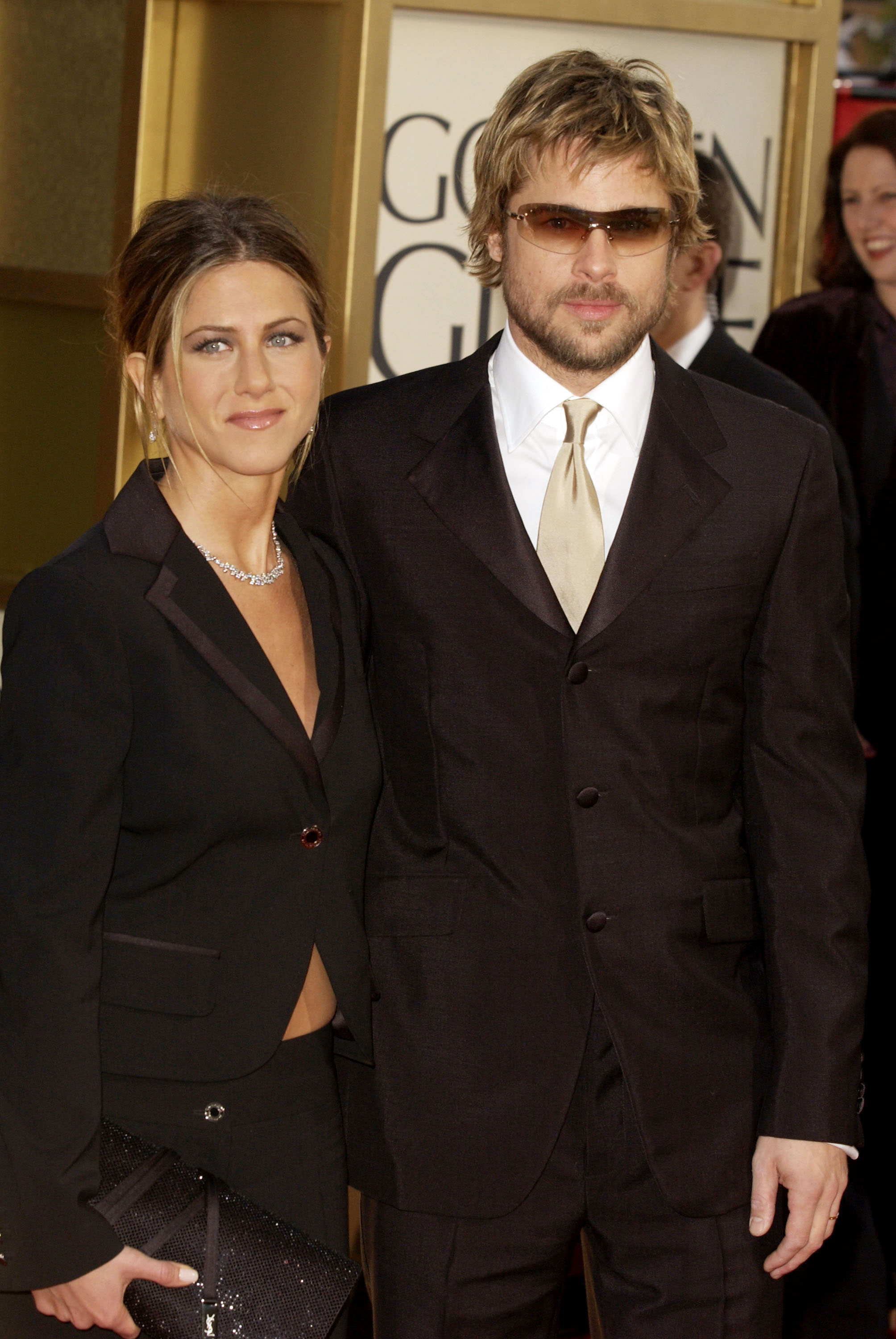 Brad Pitt and Jennifer Aniston Relationship Timeline - The happy couple made their way to the 59th Golden Globe Awards, where Aniston was nominated for Best Supporting Actress - Series, Miniseries or Television Film and Friends was nominated for Best Television Series – Musical or Comedy. Neither took home their respective trophies.