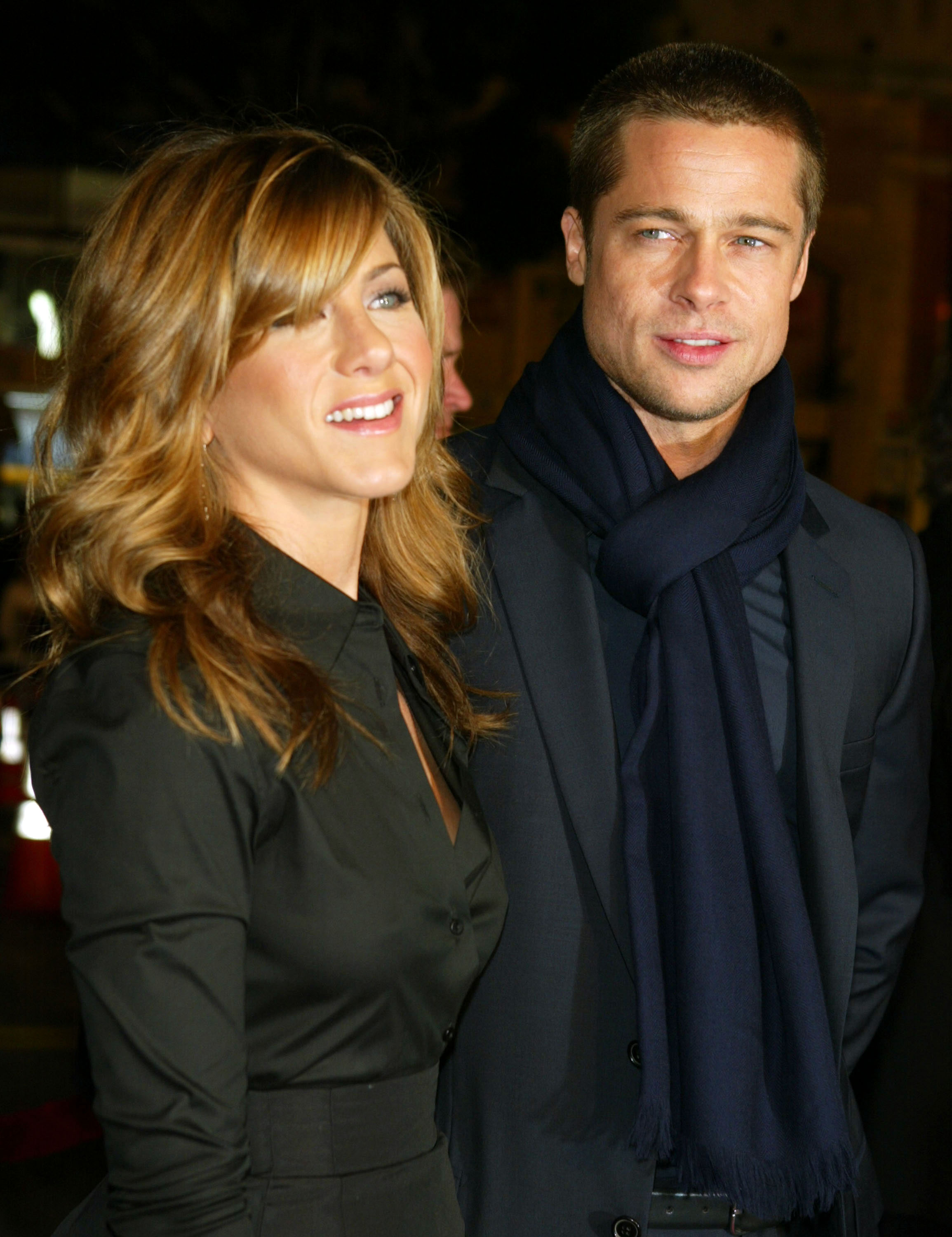 """Brad Pitt and Jennifer Aniston Relationship Timeline - Though Aniston has been vocal in recent years about her plans to forego motherhood, she was whistling a different tune in 2004. """"It's time. It's time. You know, I think you can work with a baby, I think you can work pregnant, I think you can do all of it,"""" she said of starting a family with her then-husband."""