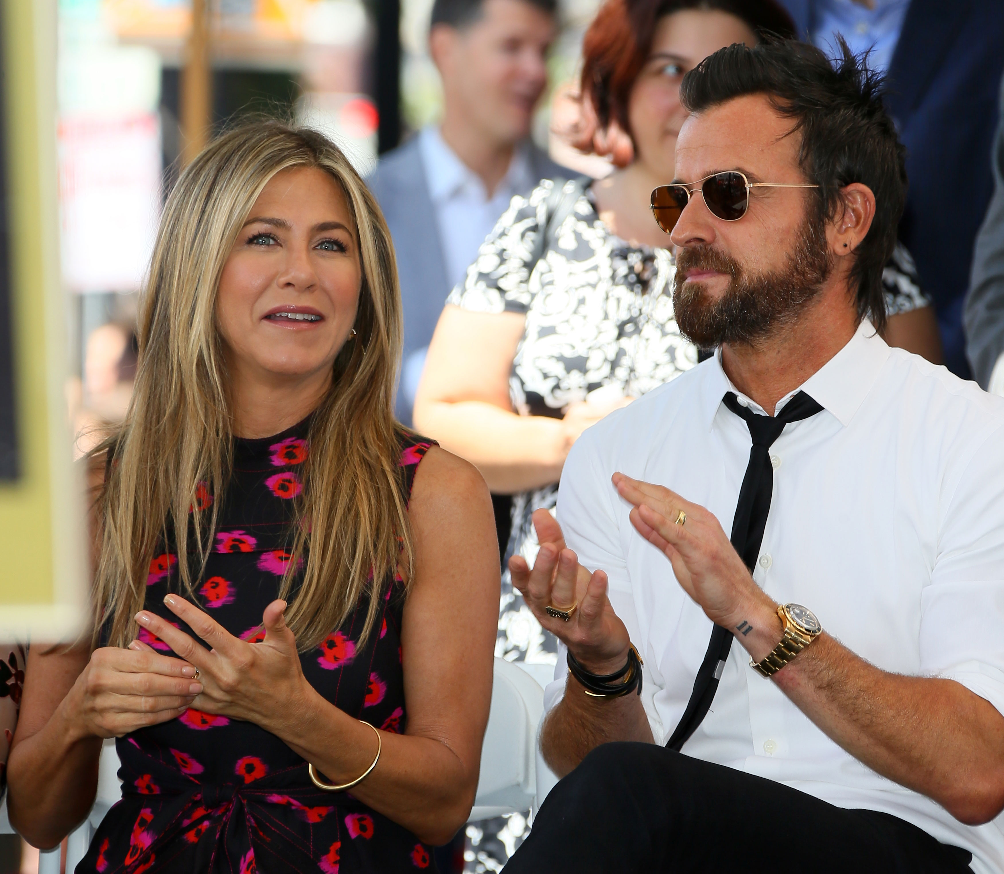"""Brad Pitt and Jennifer Aniston Relationship Timeline - The comedic actress and the Spy Who Dumped Me actor announced their split on February 15, 2018. """"In an effort to reduce any further speculation, we have decided to announce our separation,"""" their statement to Us Weekly read."""
