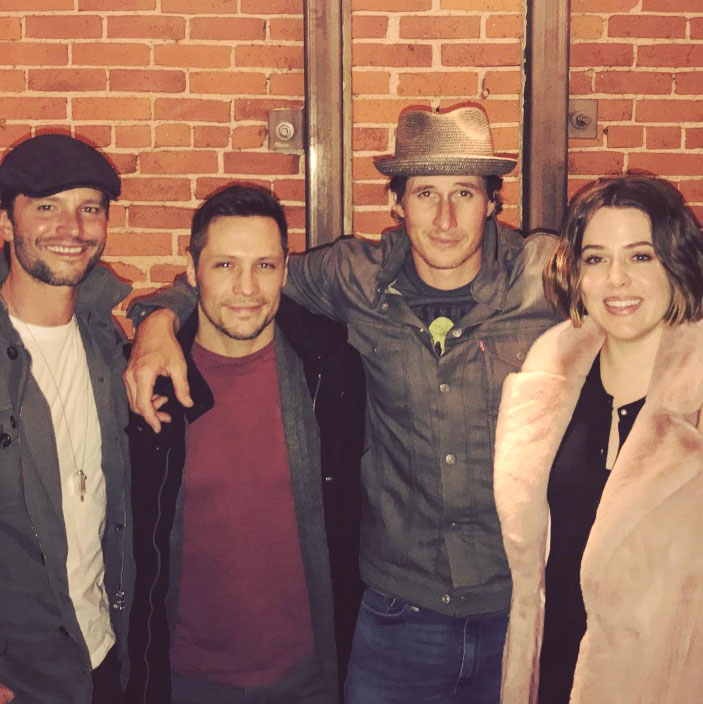 """costars reunited gallery - Brendan Fehr, Jason Behr, Nick Wechsler and Majandra Delfino gave fans all of the feels in February 2019 when they posed together for a mini-reunion. """"Turns out we still kinda like each other. #Roswell,"""" Fehr captioned an Instagram post of the foursome at the time."""