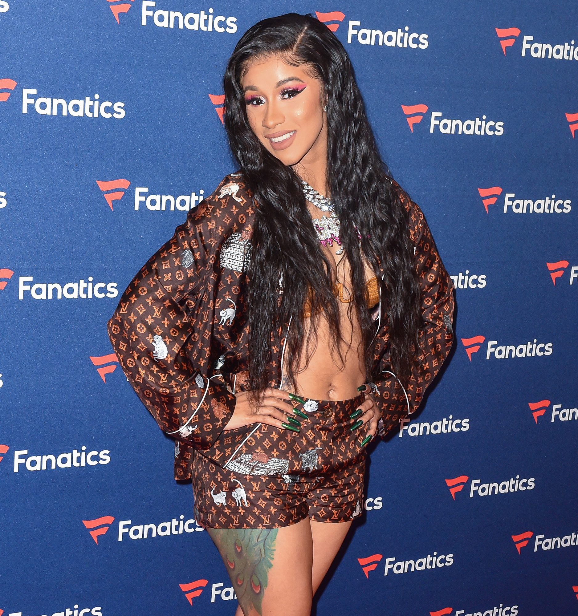 Cardi B Freaks Out When Daughter Kulture Says Mama - Cardi B. arrives to Michael Rubin's Fanatics Super Bowl Party at the College Football Hall of Fame on February 2, 2019 in Atlanta, Georgia.