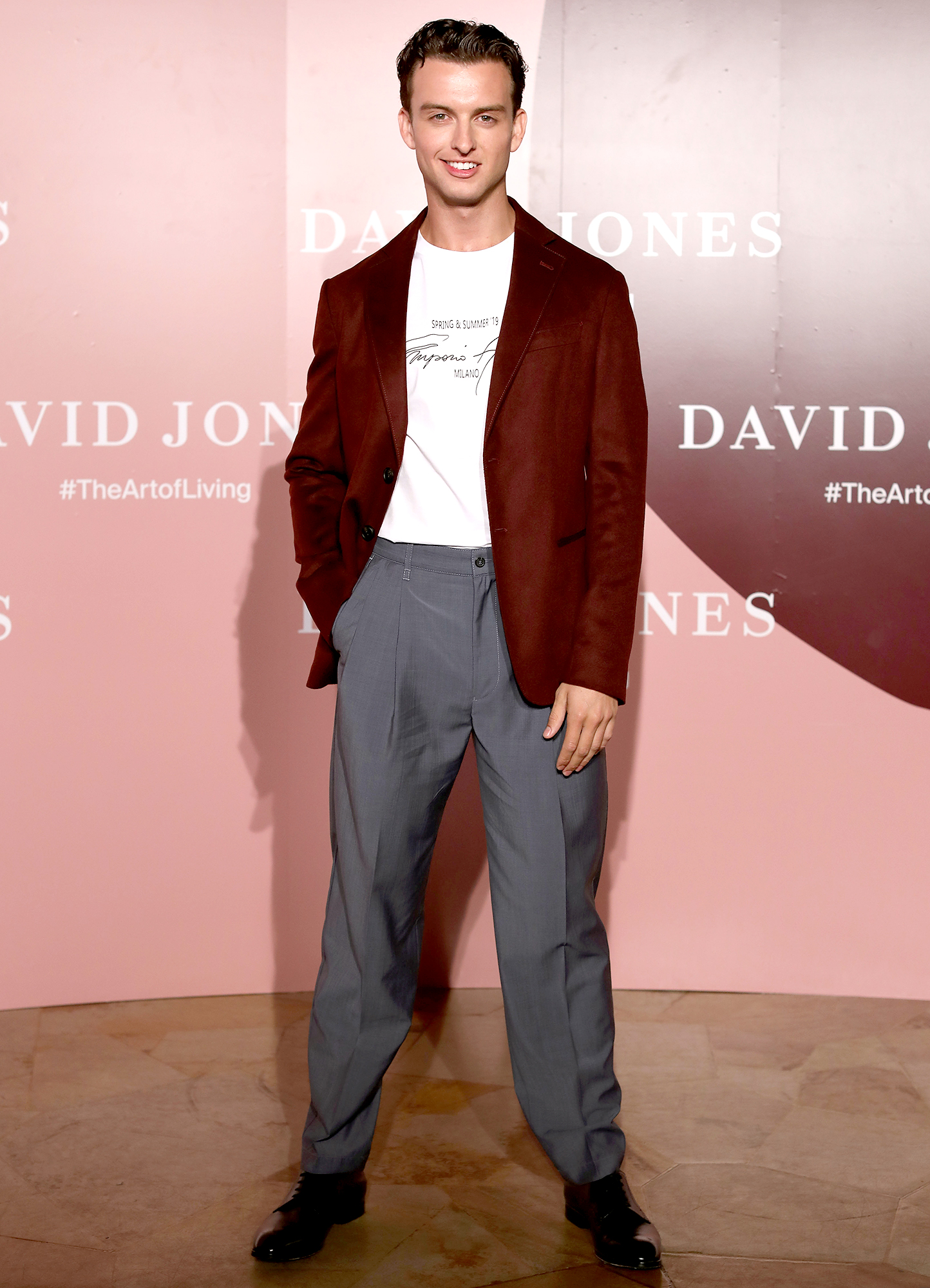 Cameron-Robbie-margot-brother-runway-debut - Cameron Robbie attends the David Jones AW19 Season Launch 'The Art of Living' at The Museum of Old and New Art (MONA) on February 5, 2019 in Hobart, Australia.