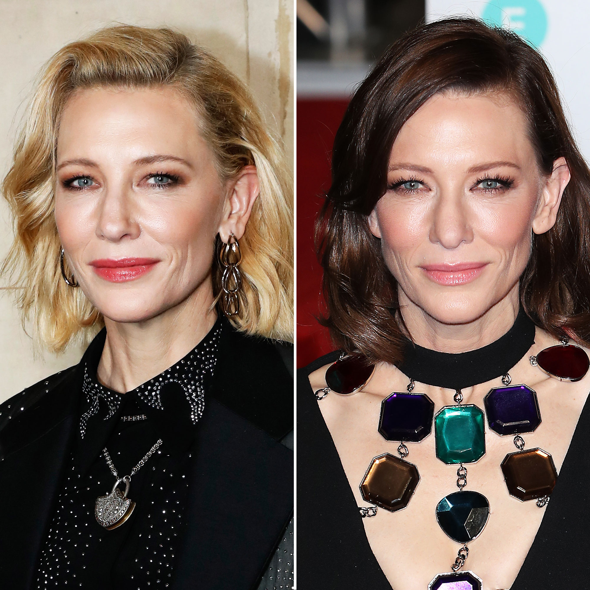 Cate Blanchett - The Aussie actress showed off her new brown hair color for a role at the National Theater at the 2019 BAFTA Awards on Sunday, February 10.