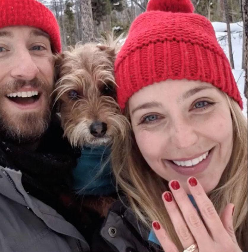Celeb Engagements of 2019-Jessica Rothe and Eric Flem