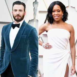 Chris Evans Escorting Regina King to the Stage Oscars 2019