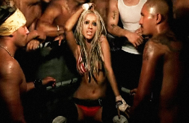 Christina Aguilera Sends Andy Cohen 3 Week Old Son Dirty Diapers Mini Chaps - Christina Aguilera in the Dirrty music video.