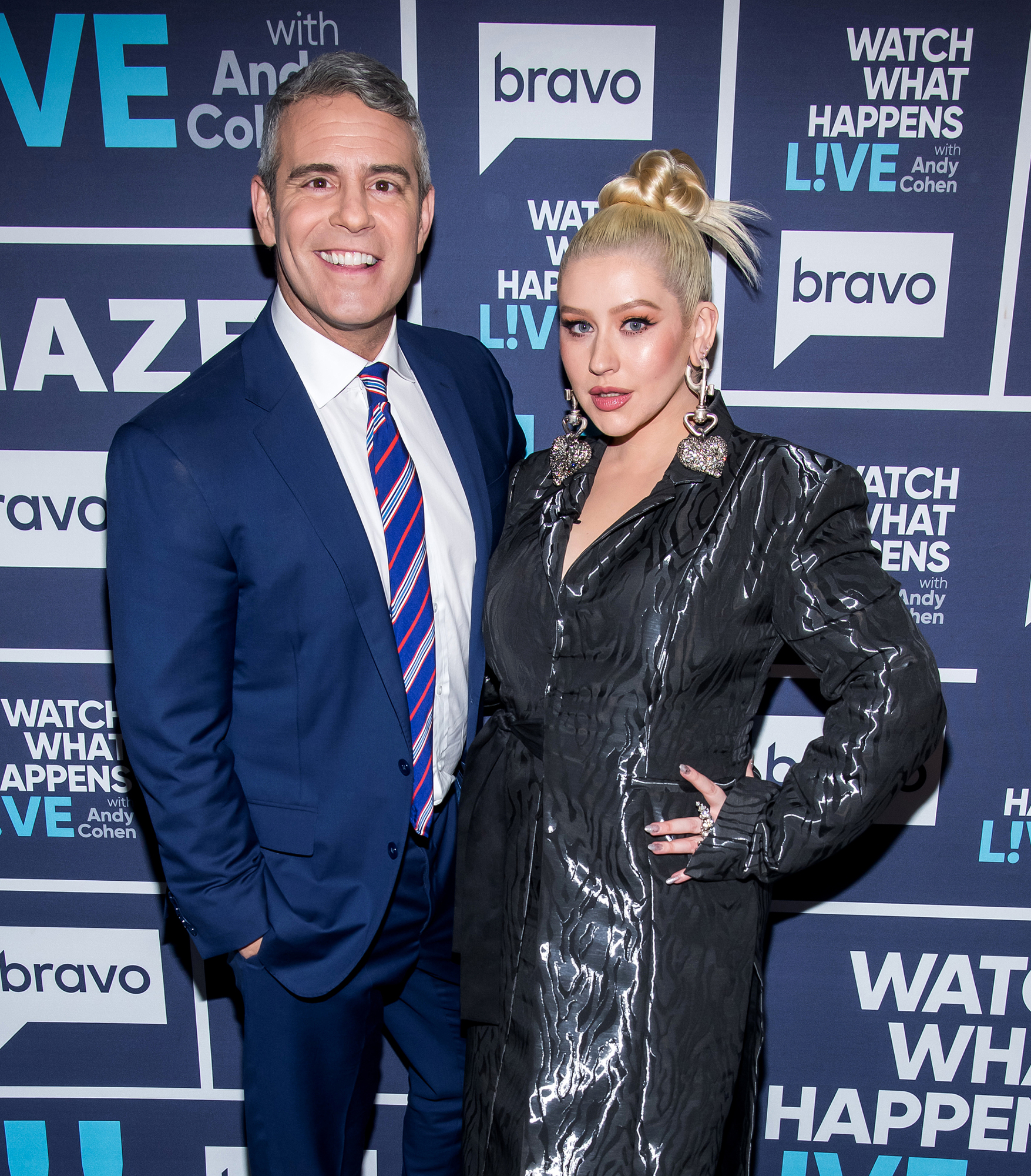 Christina Aguilera Sends Andy Cohen 3 Week Old Son Dirty Diapers Mini Chaps - Andy Cohen and Christina Aguilera.