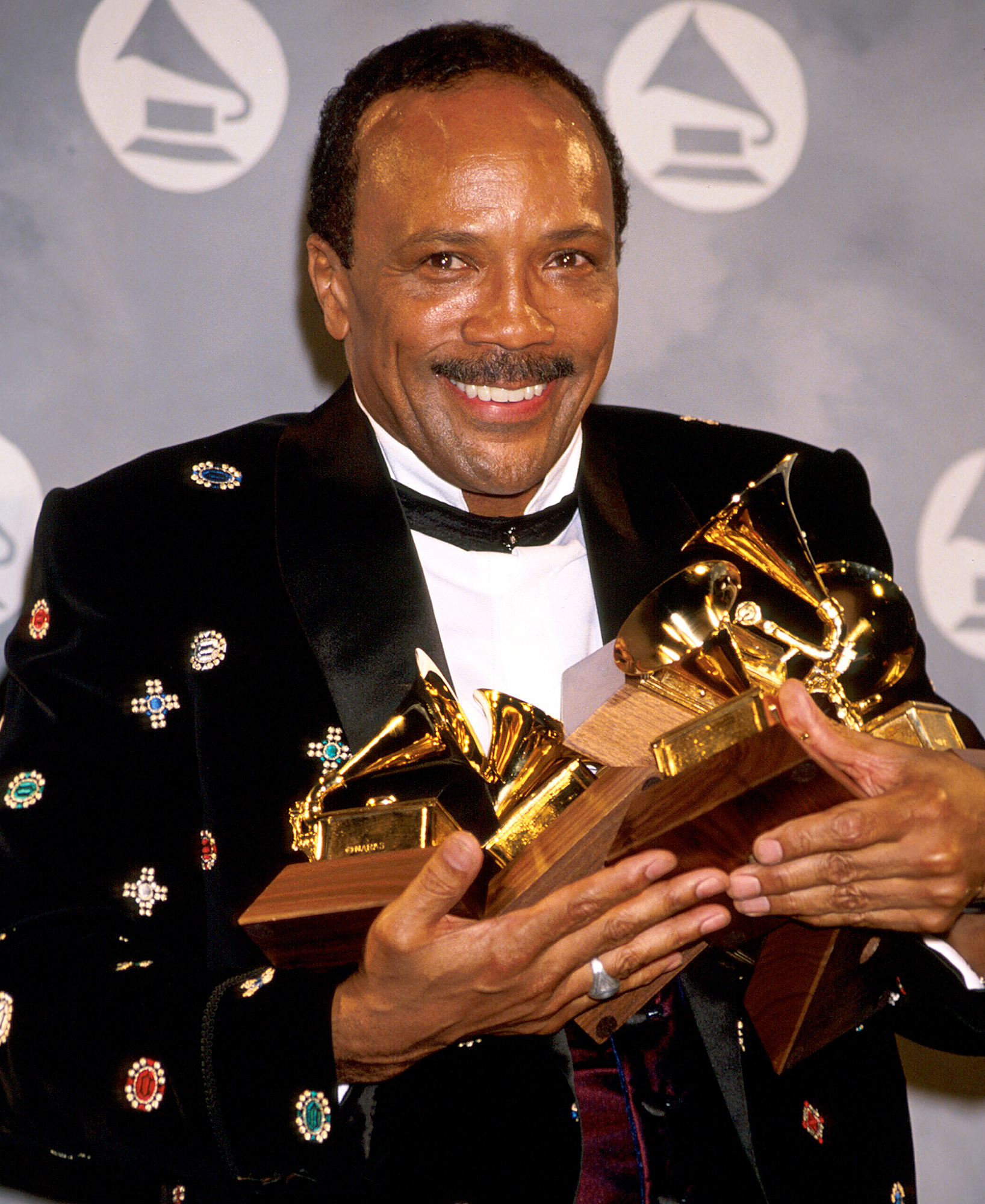 Composer-Quincy-Jones-grammy-awards - Not only has legendary R&B and soul producer Quincy Jones won 27 Grammys but he also holds the record for most Grammy nominations with 80 nods.
