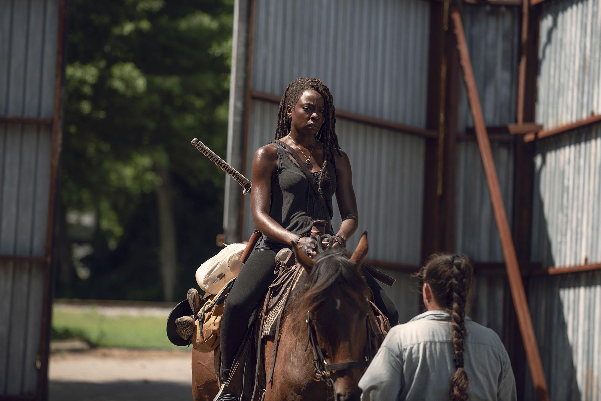 Danai Gurira the walking dead - Danai Gurira as Michonne – The Walking Dead _ Season 9, Episode 6