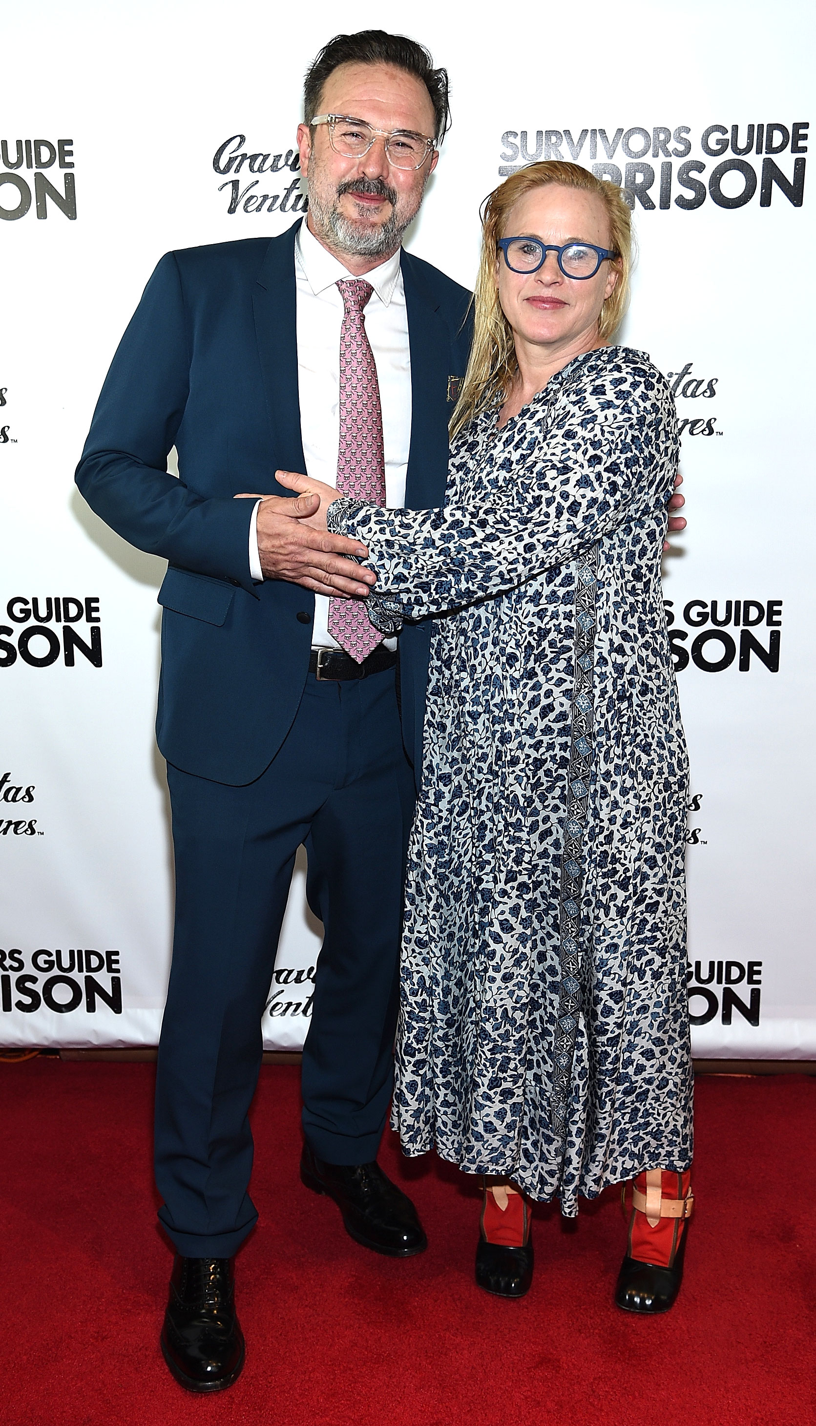 """David Arquette Had Heart Attack Before Wrestling Return, Says Sister Patricia - David Arquette and Patricia Arquette attend """"Survivors Guide To Prison"""" New York Premiere at The Landmark at 57 West on February 21, 2018 in New York City."""