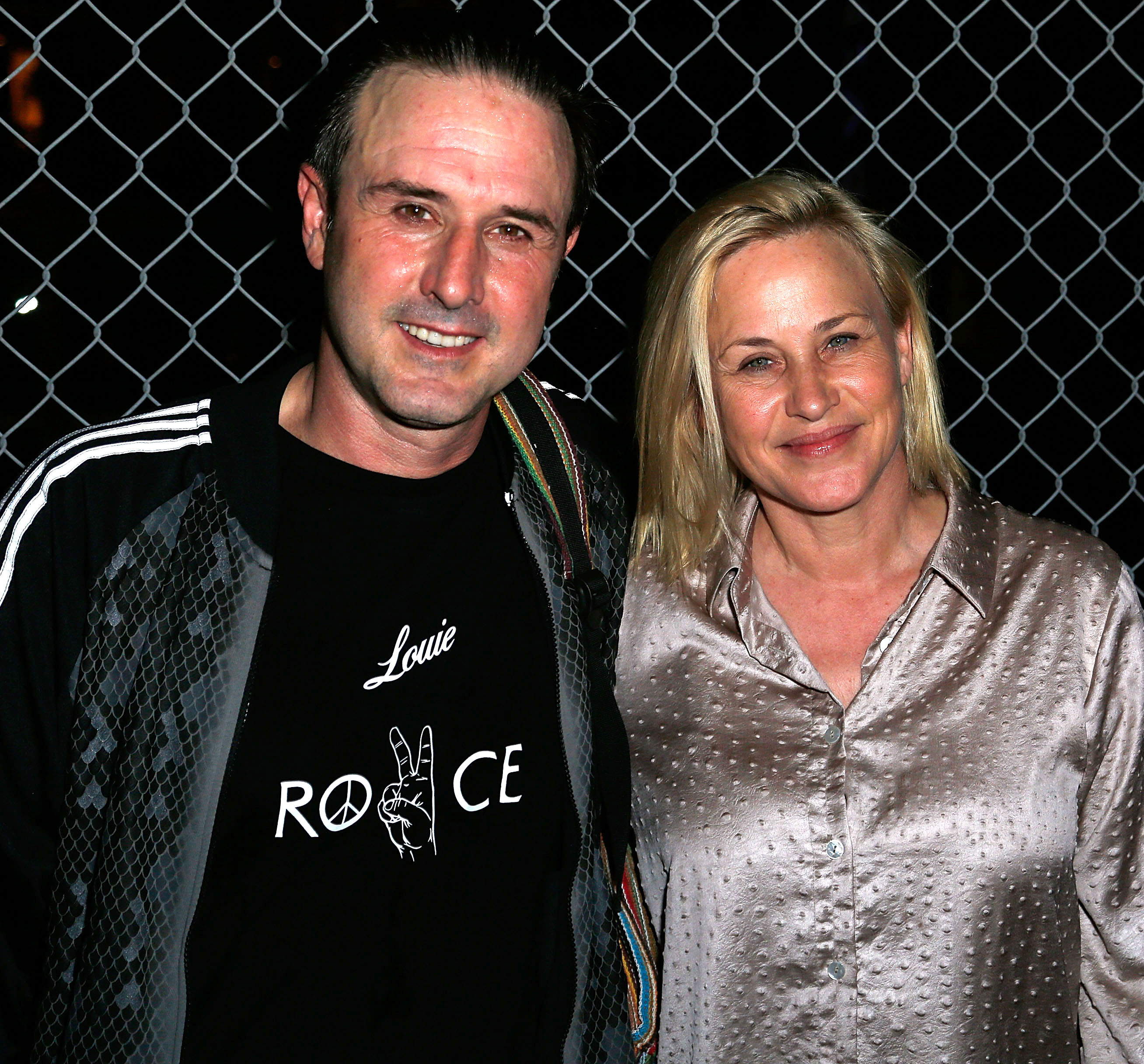 """David Arquette Had Heart Attack Before Wrestling Return, Says Sister Patricia - David Arquette and Patricia Arquette attend the after party for the opening night of Sir Arthur Conan Doyle's """"Sherlock Holmes"""" on October 15, 2015 in Hollywood, California."""