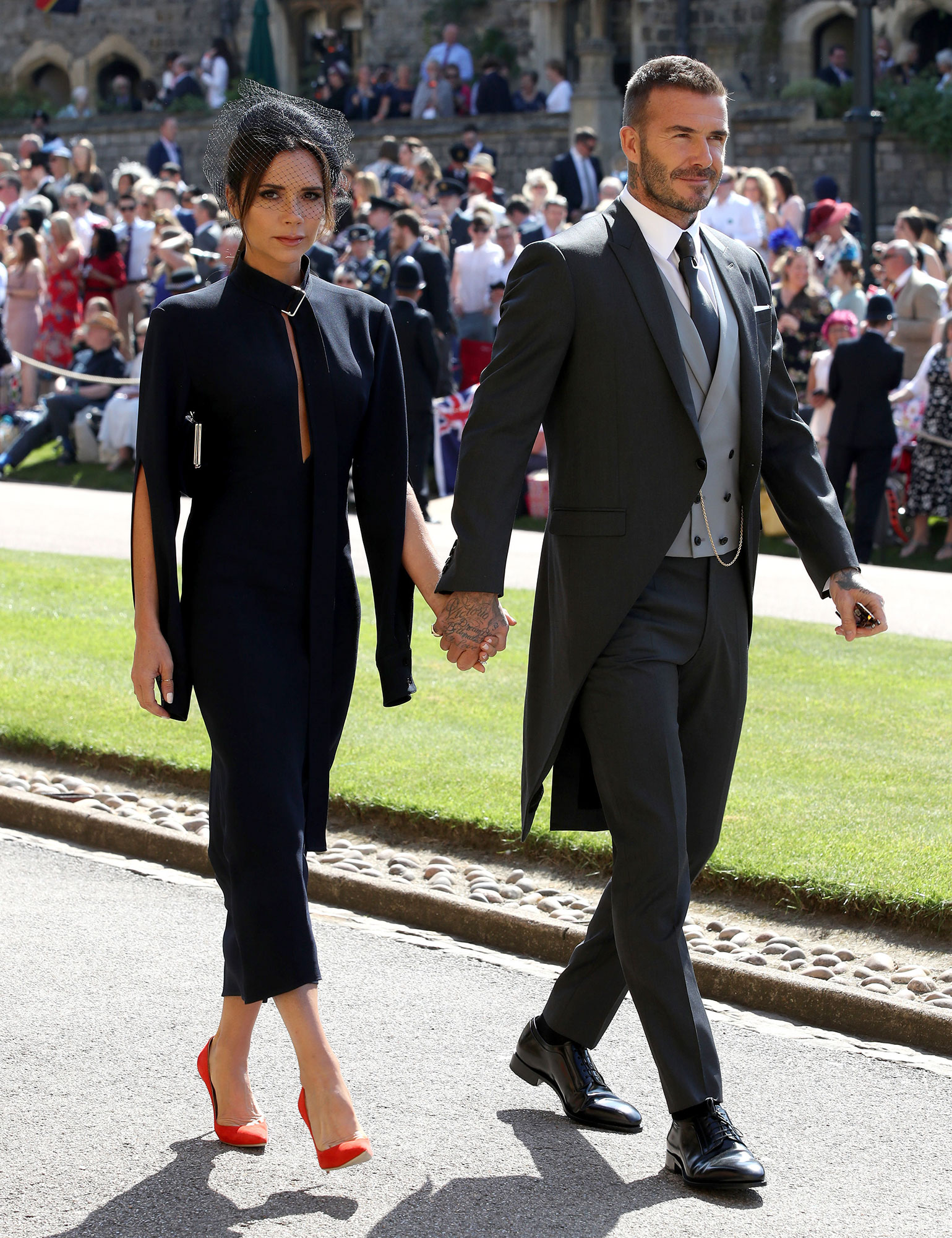 "Victoria and David Beckham timeline gallery - The stylish twosome attended their second royal wedding in May 2018, when Prince Harry wed Duchess Meghan in a romantic ceremony at St George's Chapel at Windsor Castle. ""It was such a beautiful, incredible wedding. ""It was just the best day,"" Victoria, who wore another dark blue Victoria Beckham dress, told the Evening Standard at the time. ""They looked so happy and everybody was just so happy for them."