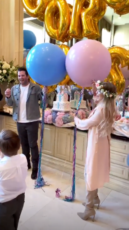 The Hills Alum Doug Reinhardt Is Expecting Identical Twin Boys With Girlfriend Mia Irons - The couple smiled happily as guests counted down to the big moment.