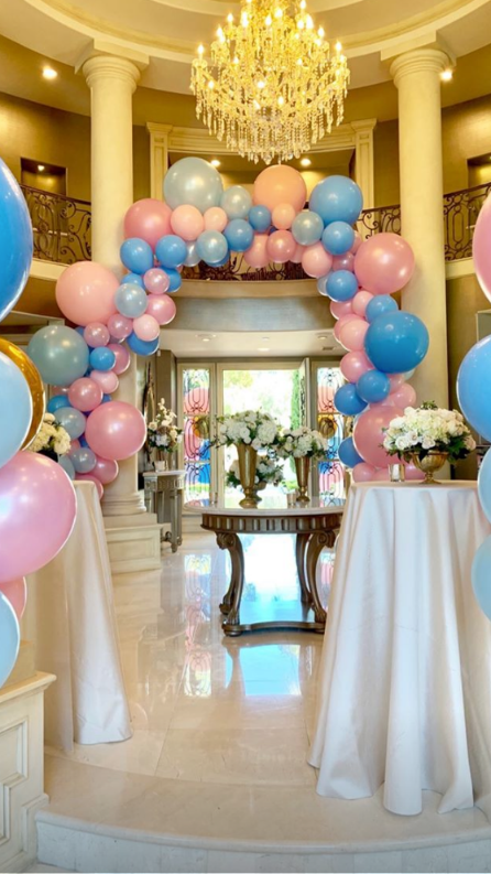 The Hills Alum Doug Reinhardt Is Expecting Identical Twin Boys With Girlfriend Mia Irons - Blue and pink balloons greeted friends and family members as they walked into Brown's Newport Beach mansion.