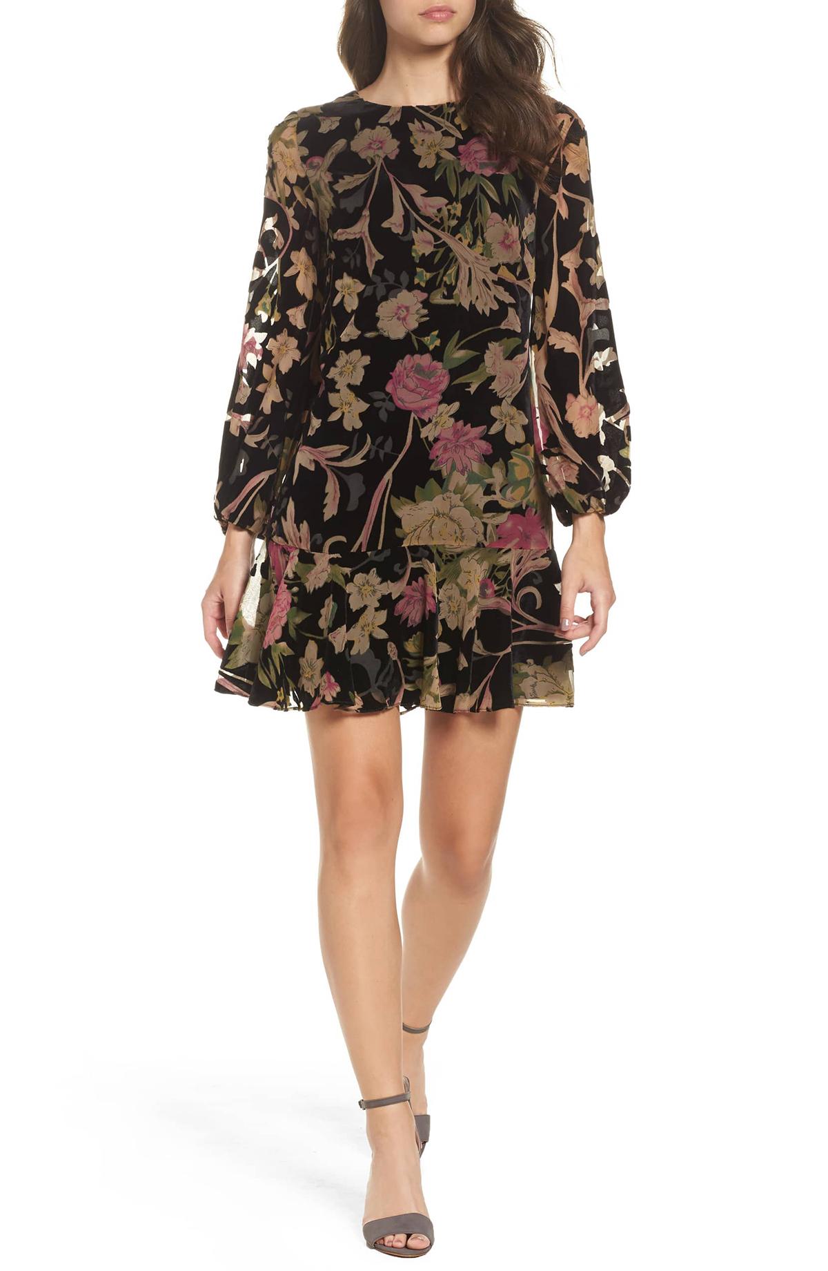 Eliza J Velvet Dress Front