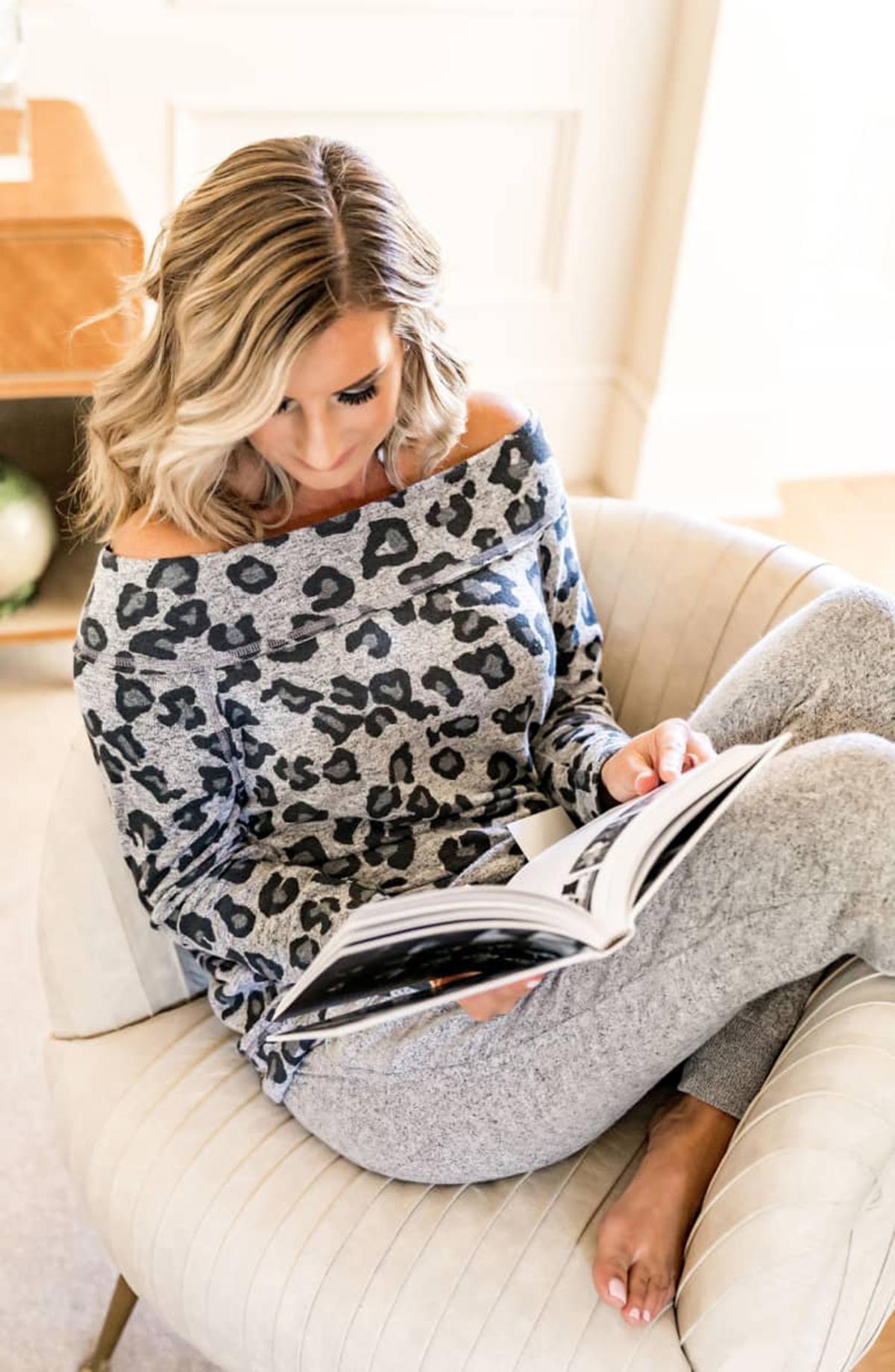 Erin Schrader Mary Top Leopard