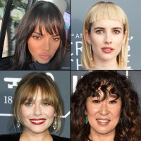 Celebrity Bangs: Fierce Fringe Inspo For Your Next Haircut Kendall Jenner, Emma Roberts, Elizabeth Olsen and Sandra Oh