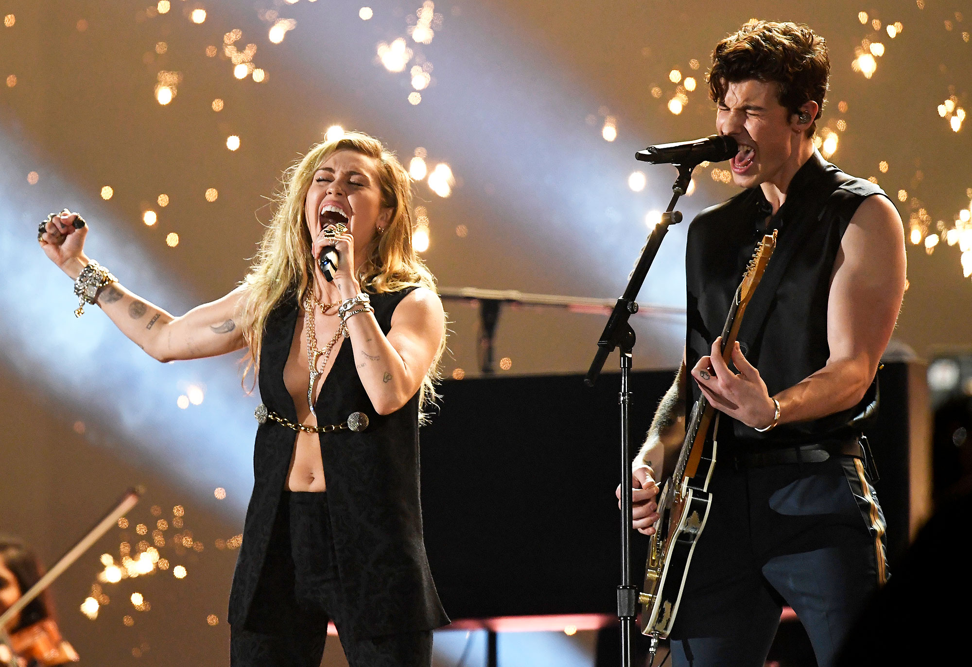 Grammys 2019 Best Performances Shawn Mendes Miley Cyrus