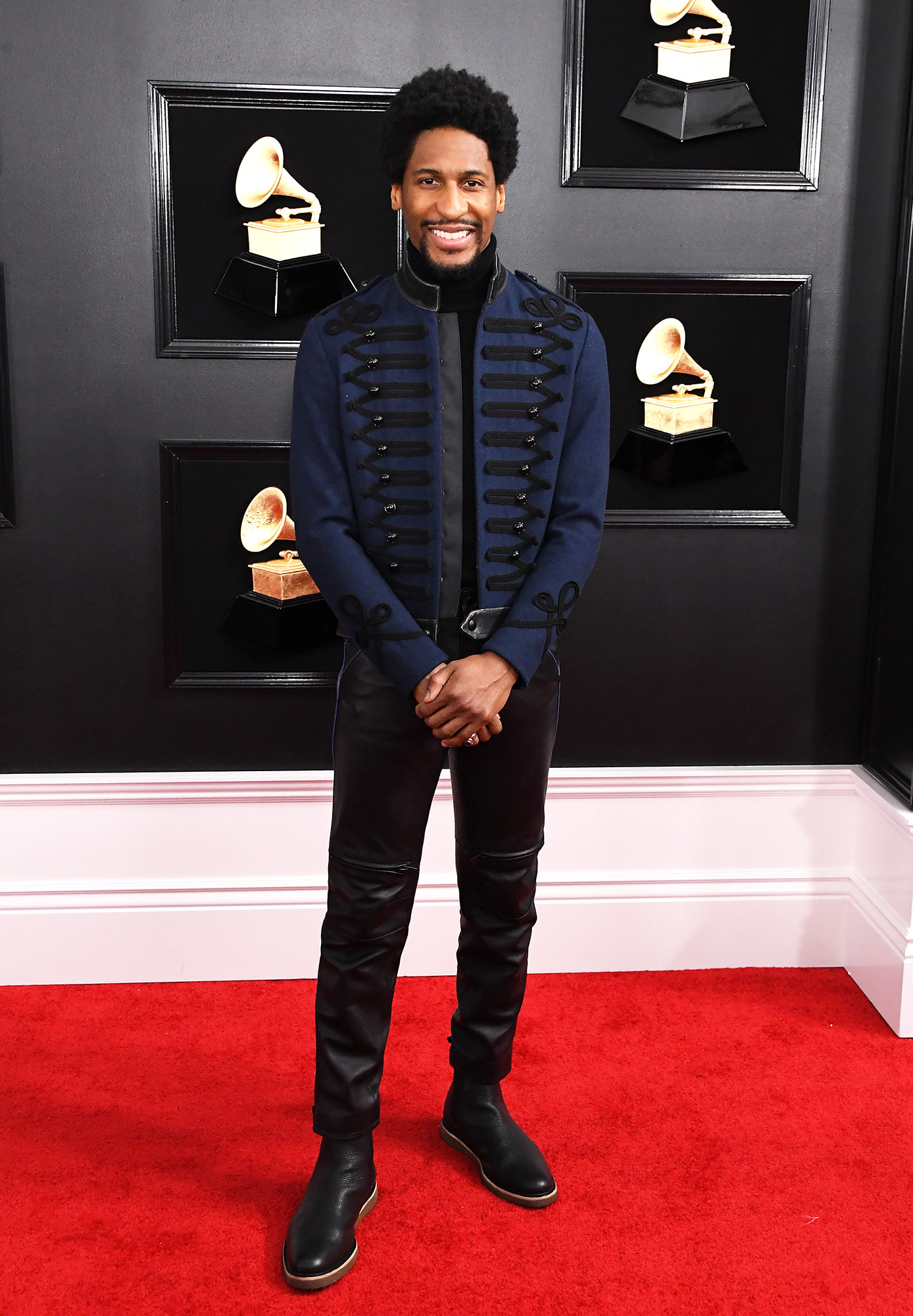grammys 2019 Jon Batiste - The Grammy nominee kept things cool in a Sgt. Pepper-inspired Coach jacket.