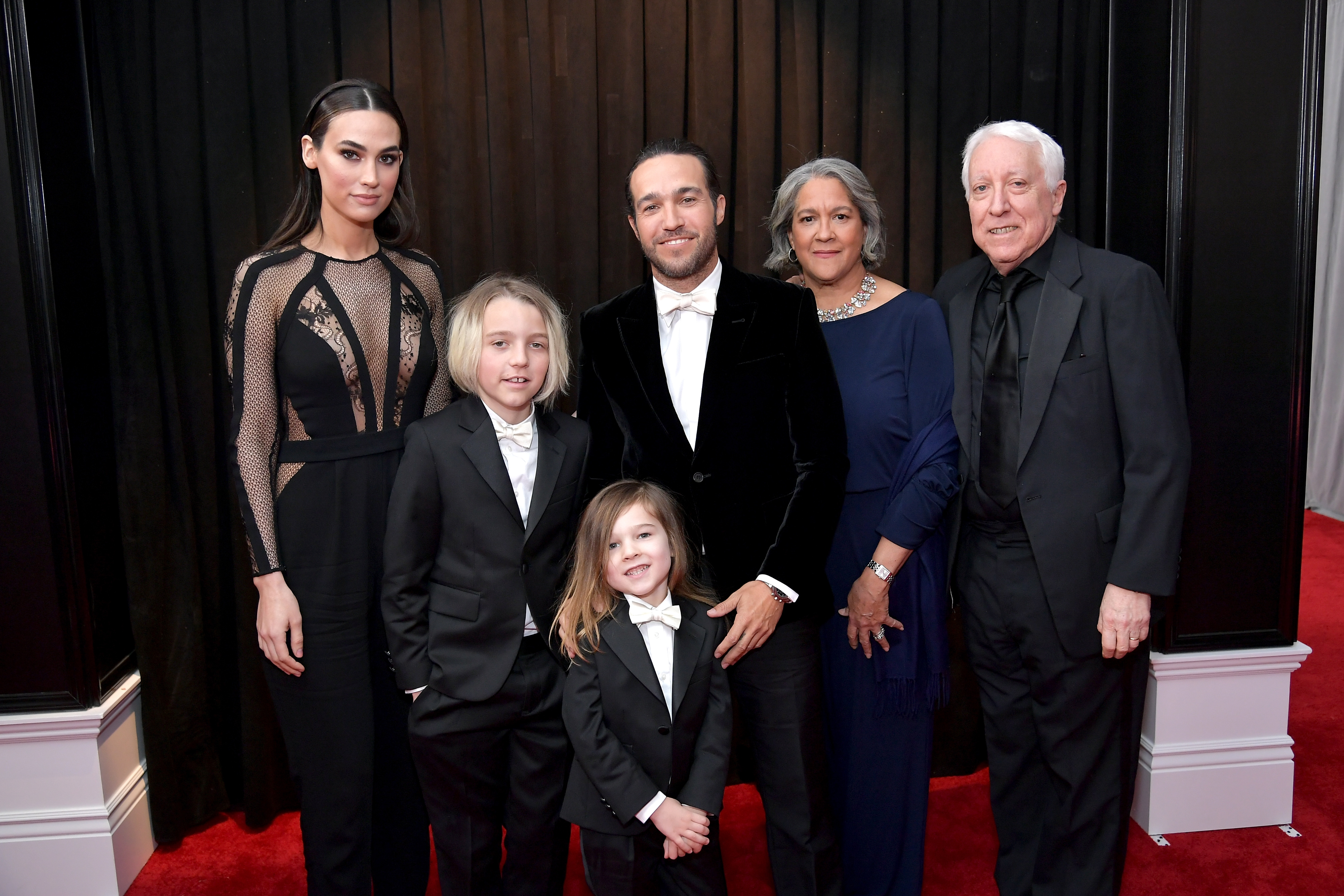"""Grammys 2019: Shawn Mendes, Miley Cyrus and More Stars Who Brought Family Members as Dates - The Fall Out Boy bassist posed for an epic family photo with wife Meagan Camper , their son 4-year-old son, Saint, his parents, Dale Wentz and Pete Wentz II, and his 10-year-old son, Bronx, whom he shares with ex-wife Ashlee Simpson. The """"I Do"""" singer also attended the Grammys with her husband, Evan Ross."""