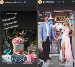 Slade Smiley and Gretchen Rossi's gender reveal party