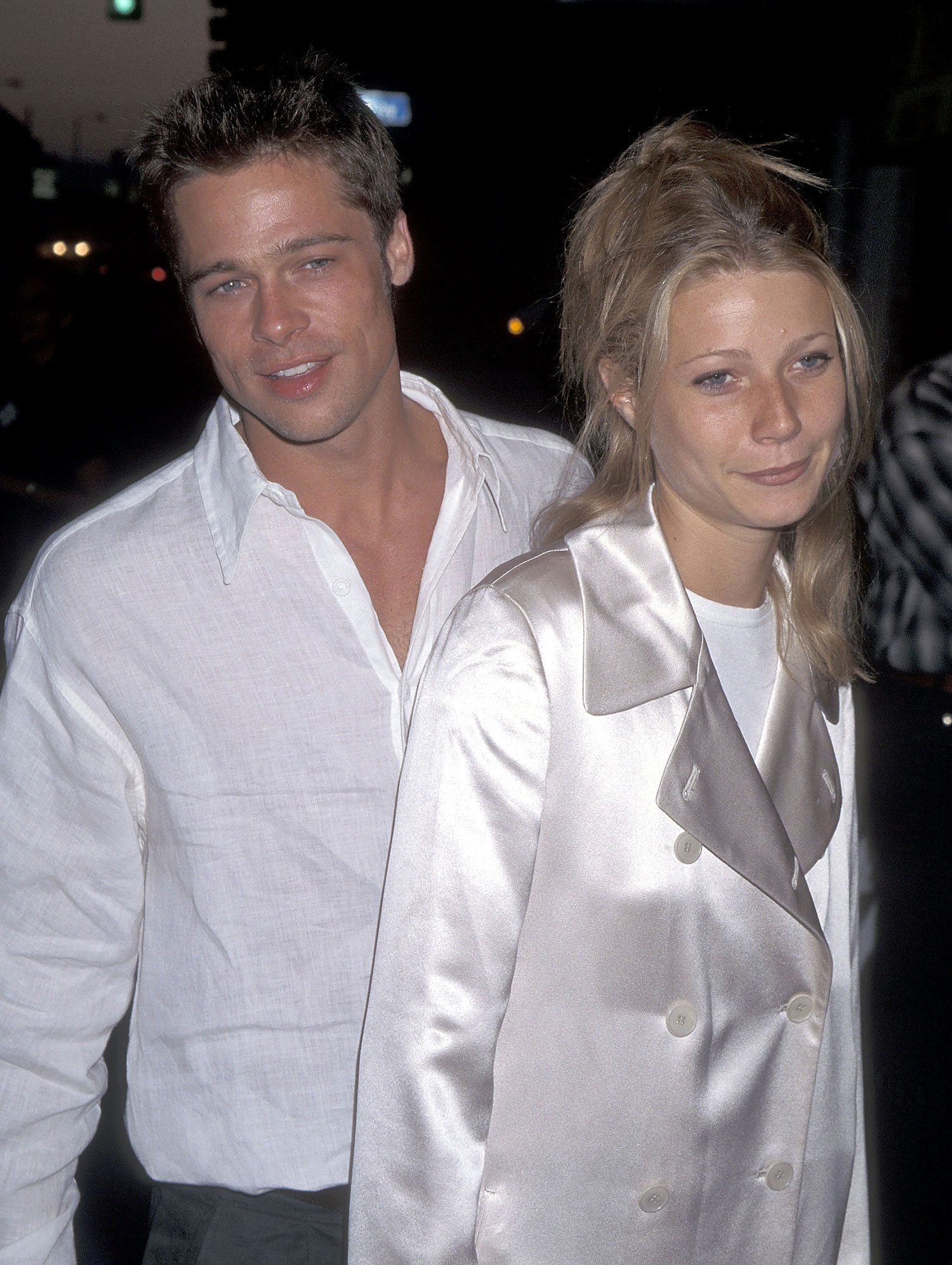 Gwyneth Paltrow Initially Turned Down 'Shakespeare in Love' After 'Terrible Breakup' With Brad Pitt - Actor Brad Pitt and actress Gwyneth Paltrow attend the 'Living in Oblivion' West Los Angeles Premiere on July 12, 1995 at the Royal Theatre in West Los Angeles, California.