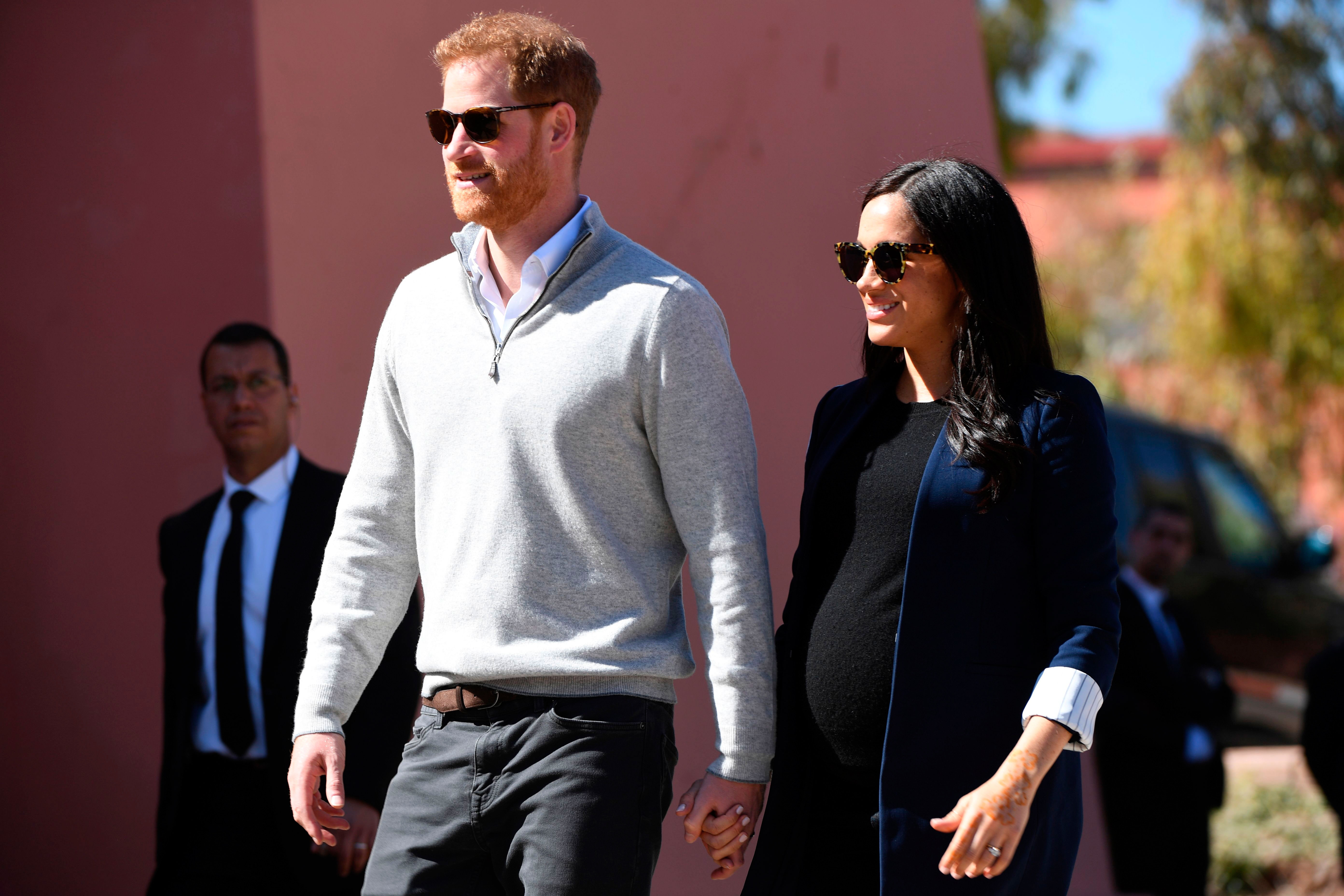 Prince Harry Pregnant Duchess Meghan Cuddle Up In Morocco