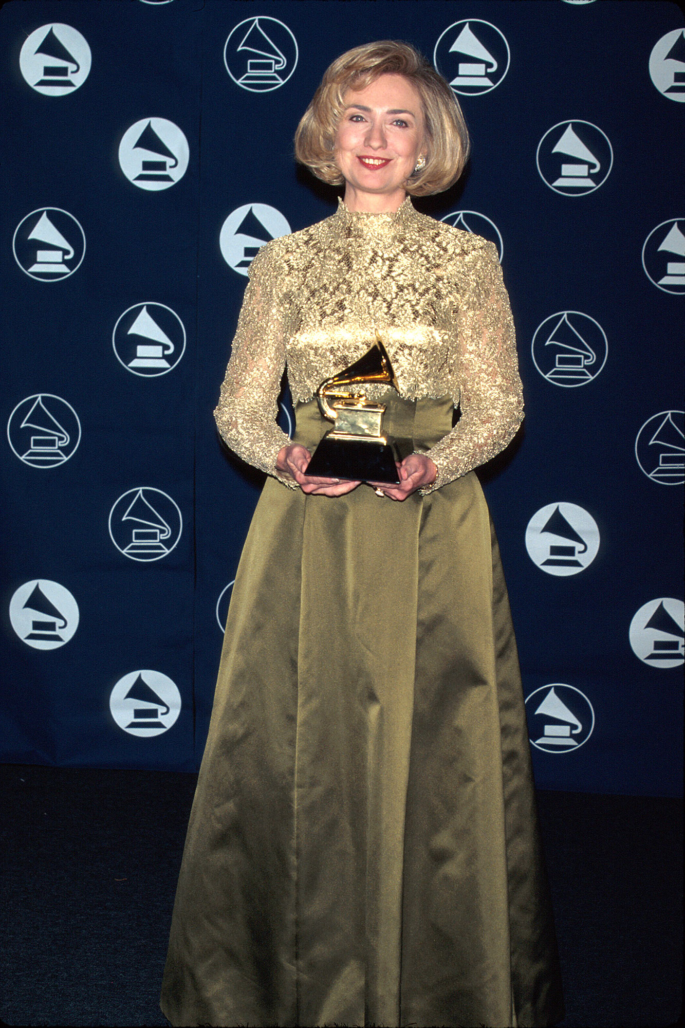 Stars You Wouldn't Expect to Be Grammy Nominees or Winners - The former secretary of state won Best Spoken Word or Non-Musical Album for It Takes a Village in 1997. She was nominated again in 2004 for her audiobook Living History .