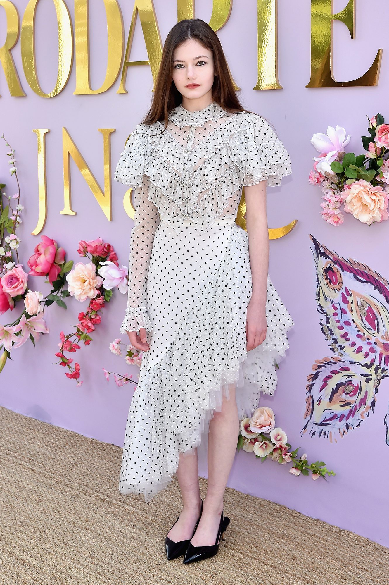 Hollywood's Freshest Faces Were Front Row at the Rodarte Show - In case we needed a reminder that summer's polka dot trend isn't going anywhere, the Nutcracker and the Four Realms star dazzled in a dotted black and white midi.