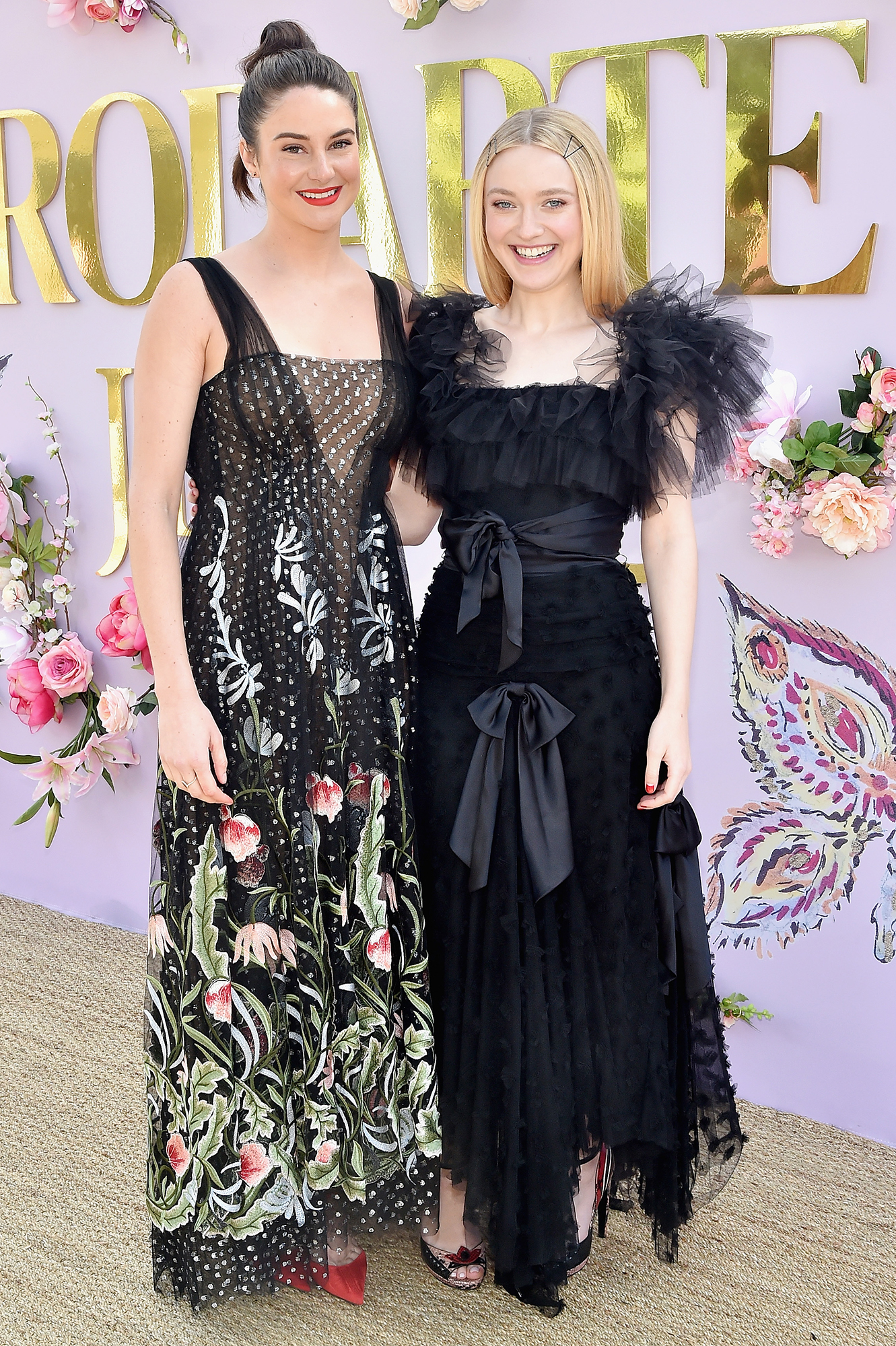 Hollywood's Freshest Faces Were Front Row at the Rodarte Show - Shailene Woodley and Lucy Boynton attend JNSQ Rose Cru debuts alongside Rodarte FW/19 Runway Show at Huntington Library on February 5, 2019 in Pasadena, California.