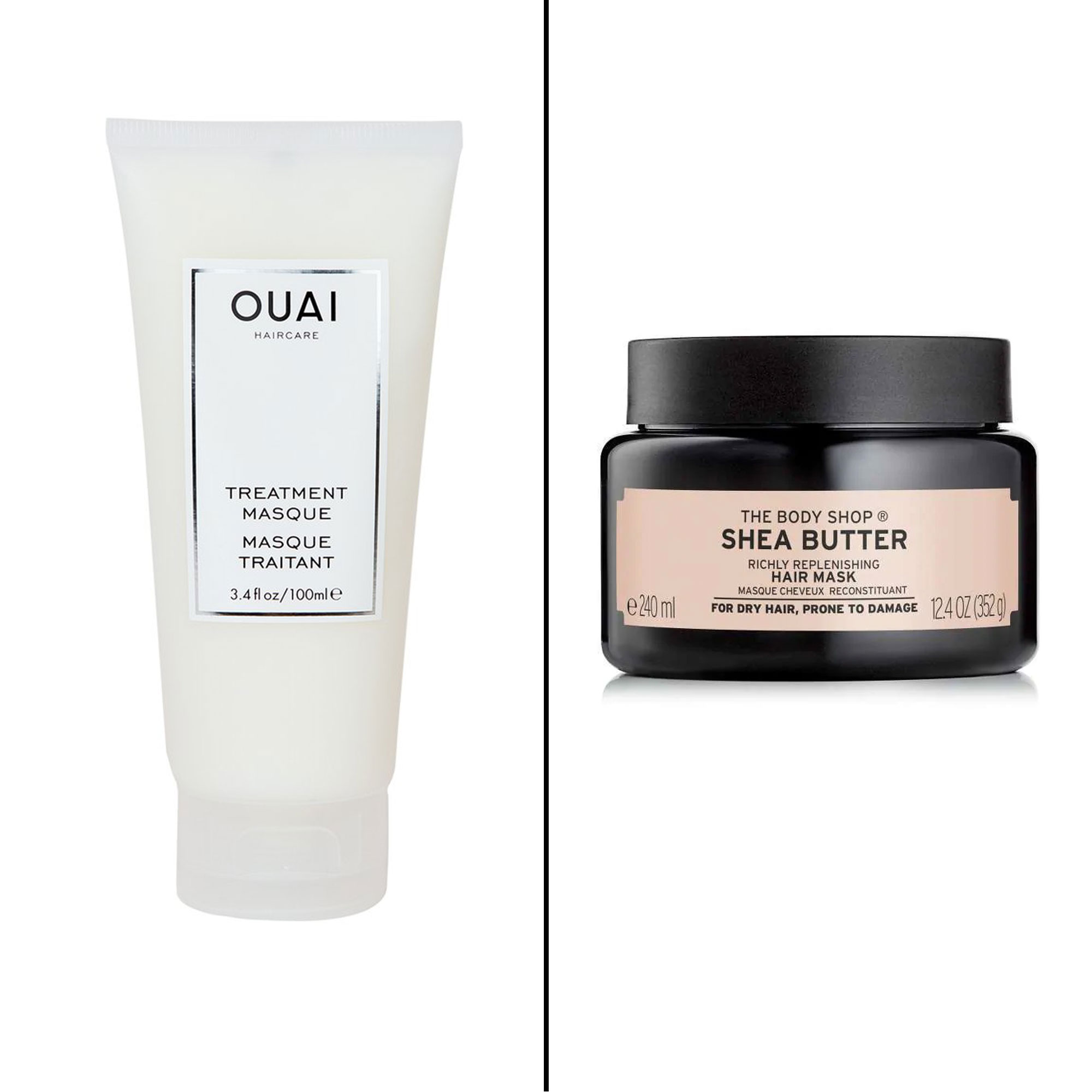 Splurge vs. Save: Salon-Worthy Hair Treatments For Every Type of Need - Splurge: Ouai Treatment Masque From Kardashian-favorite stylist Jen Atkin's brand, this moisturizing mask softens and repairs hair by sealing the cuticle to protect against split ends and other damages. $32, sephora.com Save: The Body Shop Shea Butter Richly Replenishing Hair Mask For intense hydration, try this budget-friendly mask which is completely vegan and ethically-sourced.