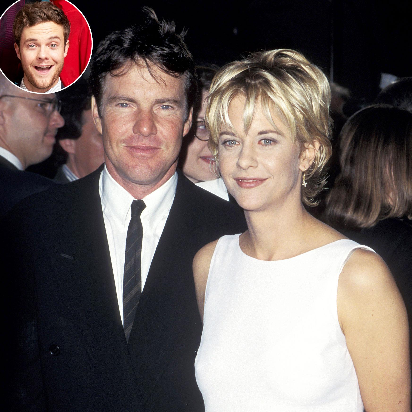 Jack Quaid Didnt Realize Parents Famous Until Divorce Dennis Quaid Meg Ryan - Jack Quaid, Dennis Quaid and Meg Ryan.
