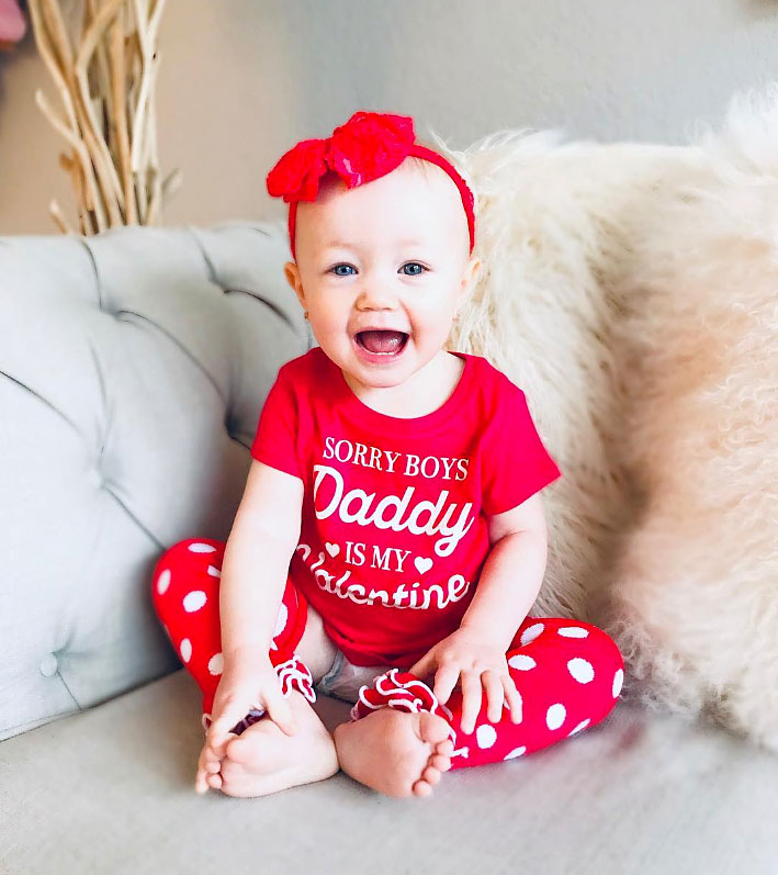 "Henley Hehner Cute Celebrity Kids Celebrating Valentine's Day - ""Daddy's favorite Valentine,"" Jamie Otis captioned an Instagram spread of her and Doug Hehner 's daughter in a festive outfit."