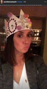 Jennifer Love Hewitt's Kids Helped Her Celebrate Her 40th Birthday With a Homemade Cake and Crown