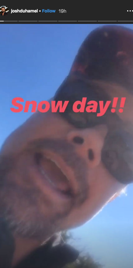 """Josh Duhamel, Fergie Reunite for Snow Day With Son Axl - """"It's snow day,"""" the Las Vegas alum exclaimed in a video posted on his Instagram Stories on Saturday."""
