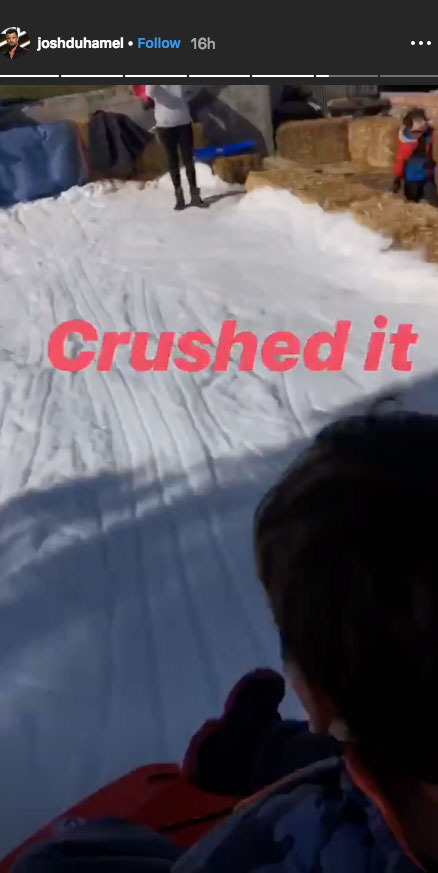 """Josh Duhamel, Fergie Reunite for Snow Day With Son Axl - """"Axl, what do ya, think?"""" Duhamel could be heard saying to his son in one video on Instagram Stories."""