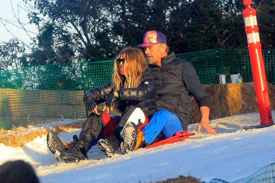 Josh Duhamel, Fergie Reunite for Snow Day With Son Axl