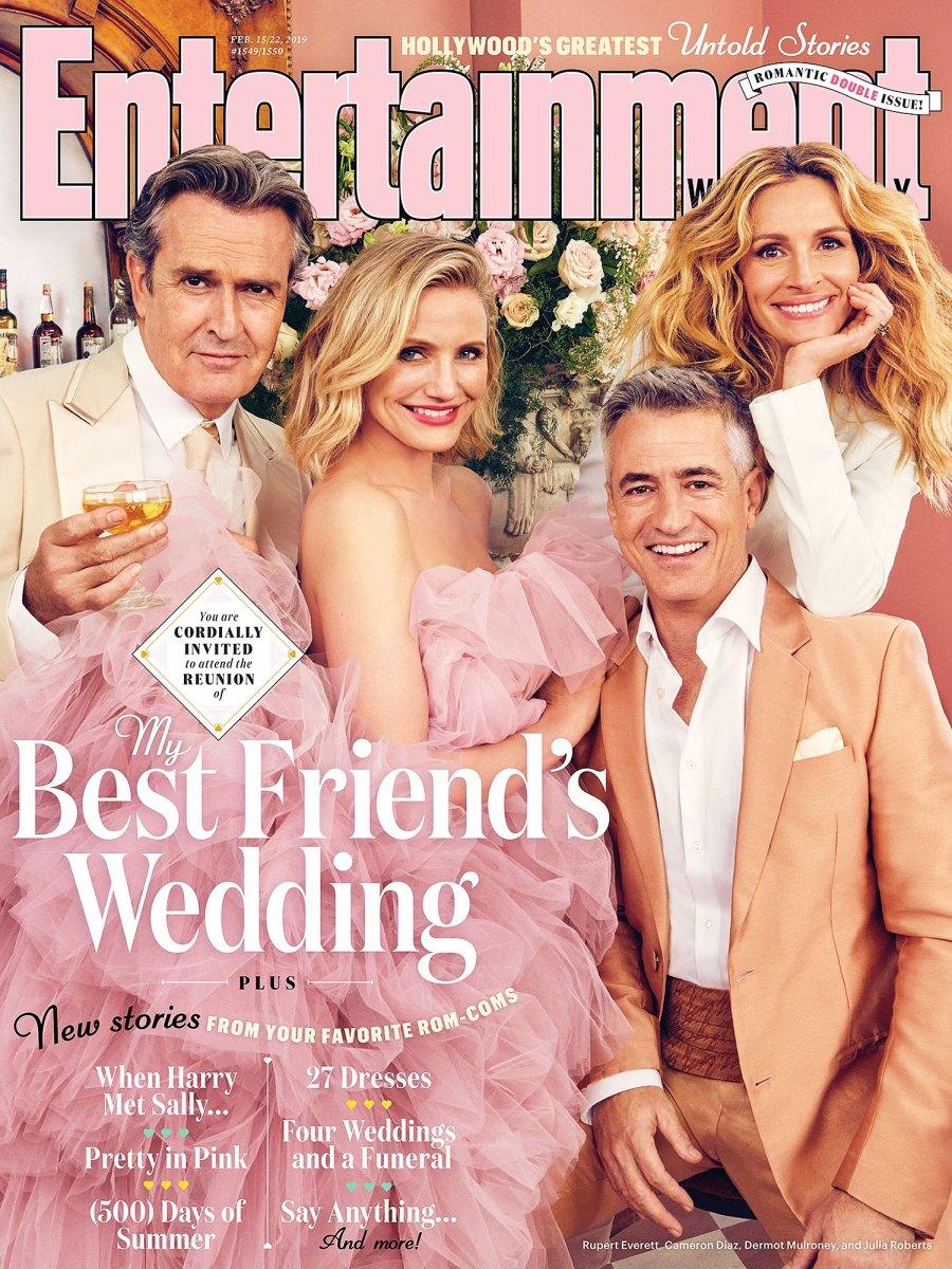 Rupert Everett Cameron Diaz Dermot Mulroney Julia Roberts My Best Friend's Wedding Reunion Entertainment Weekly Cover